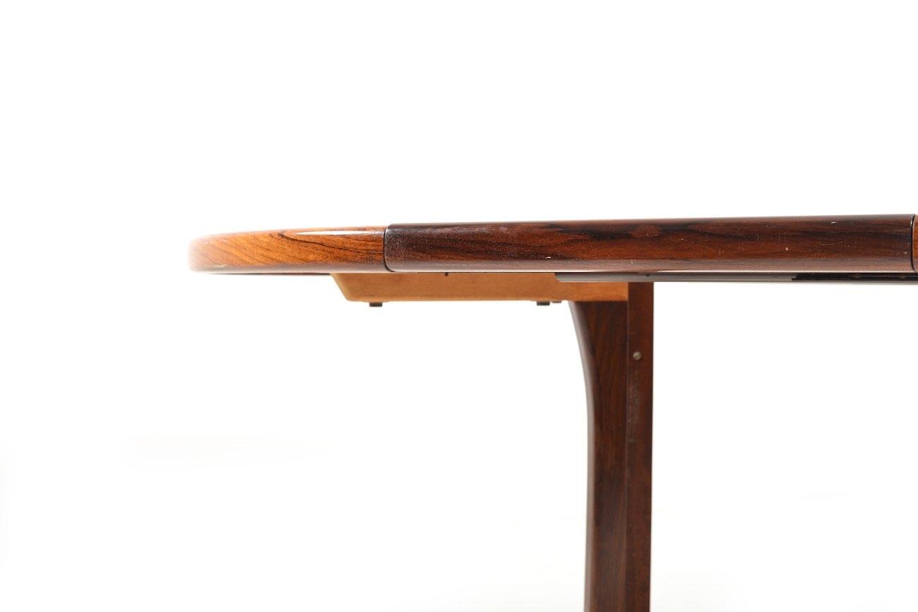 runder ausziehbarer palisander esstisch von faarup m belfabrik 1960er bei pamono kaufen. Black Bedroom Furniture Sets. Home Design Ideas
