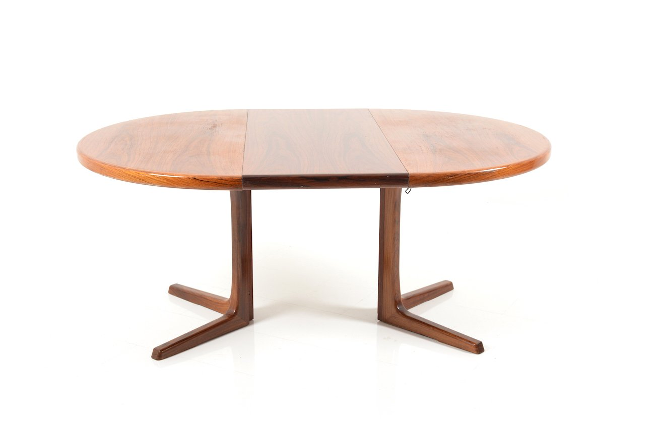 round extendable rosewood dining table from faarup m belfabrik 1960s for sale at pamono. Black Bedroom Furniture Sets. Home Design Ideas
