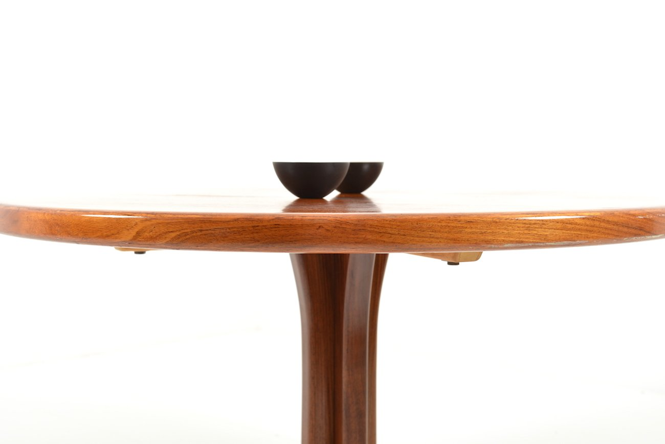 Round Extendable Rosewood Dining Table from Faarup  : round extendable rosewood dining table from faarup mobelfabrik 1960s 3 from www.pamono.com.au size 1300 x 868 jpeg 201kB