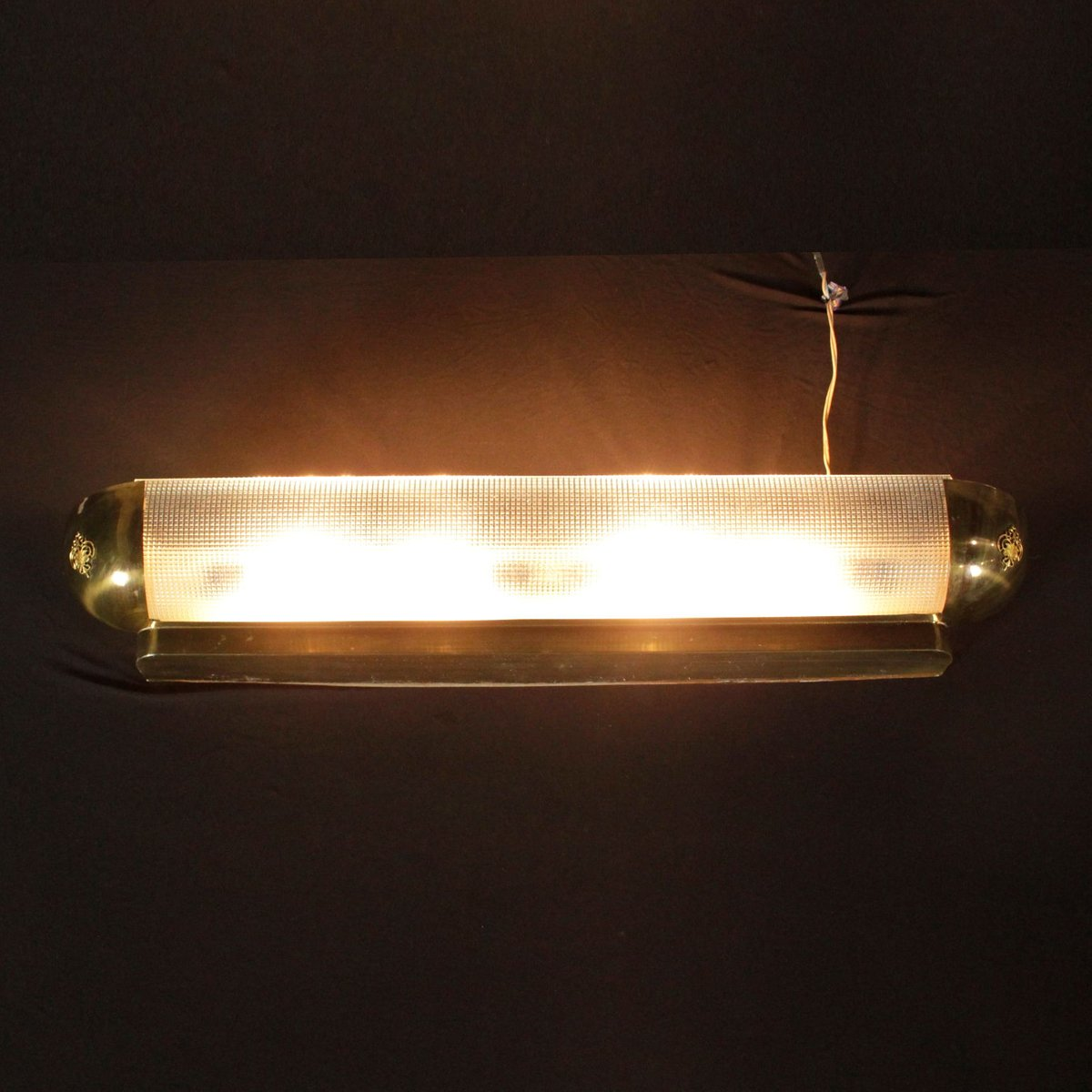 Pimlico Wall Lamp In Glass : Wall Lamp in Satin Glass & Brass, 1960s for sale at Pamono