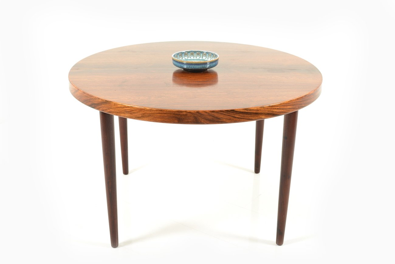 Mid century danish extendable round rosewood dining table for Mid century round dining table