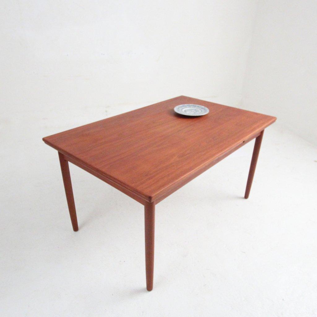 table de salle manger en teck avec rallonge en vente sur pamono. Black Bedroom Furniture Sets. Home Design Ideas