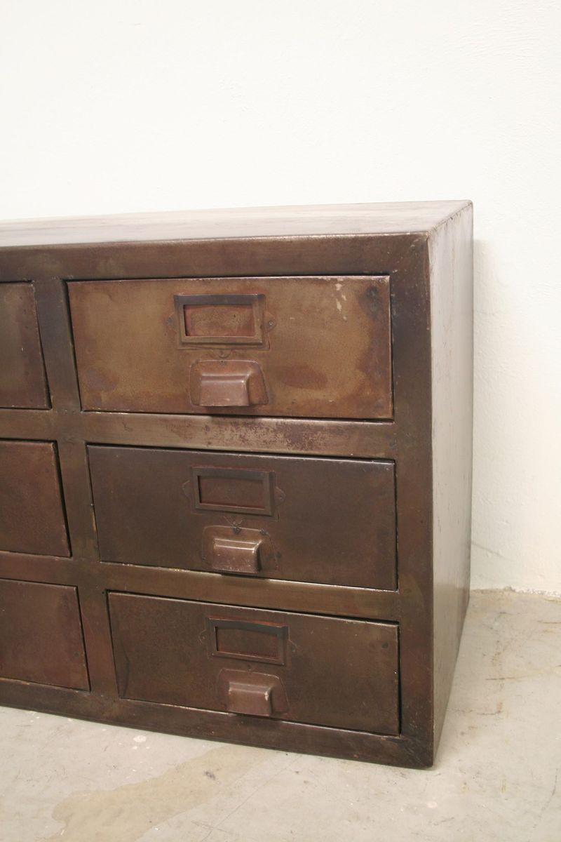 french vintage industrial metal sideboard 1950s for sale. Black Bedroom Furniture Sets. Home Design Ideas