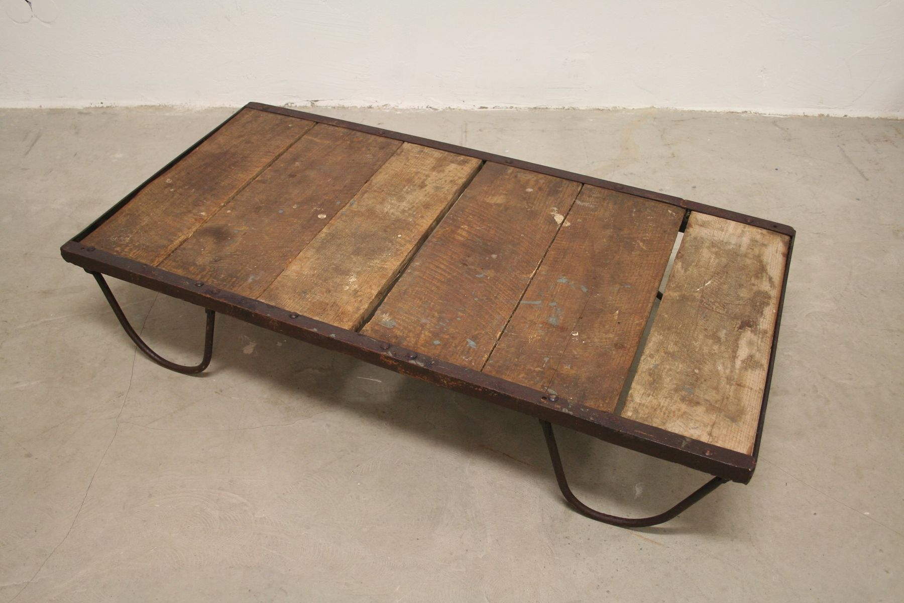 French Vintage Industrial Coffee Table 1930s for sale at Pamono