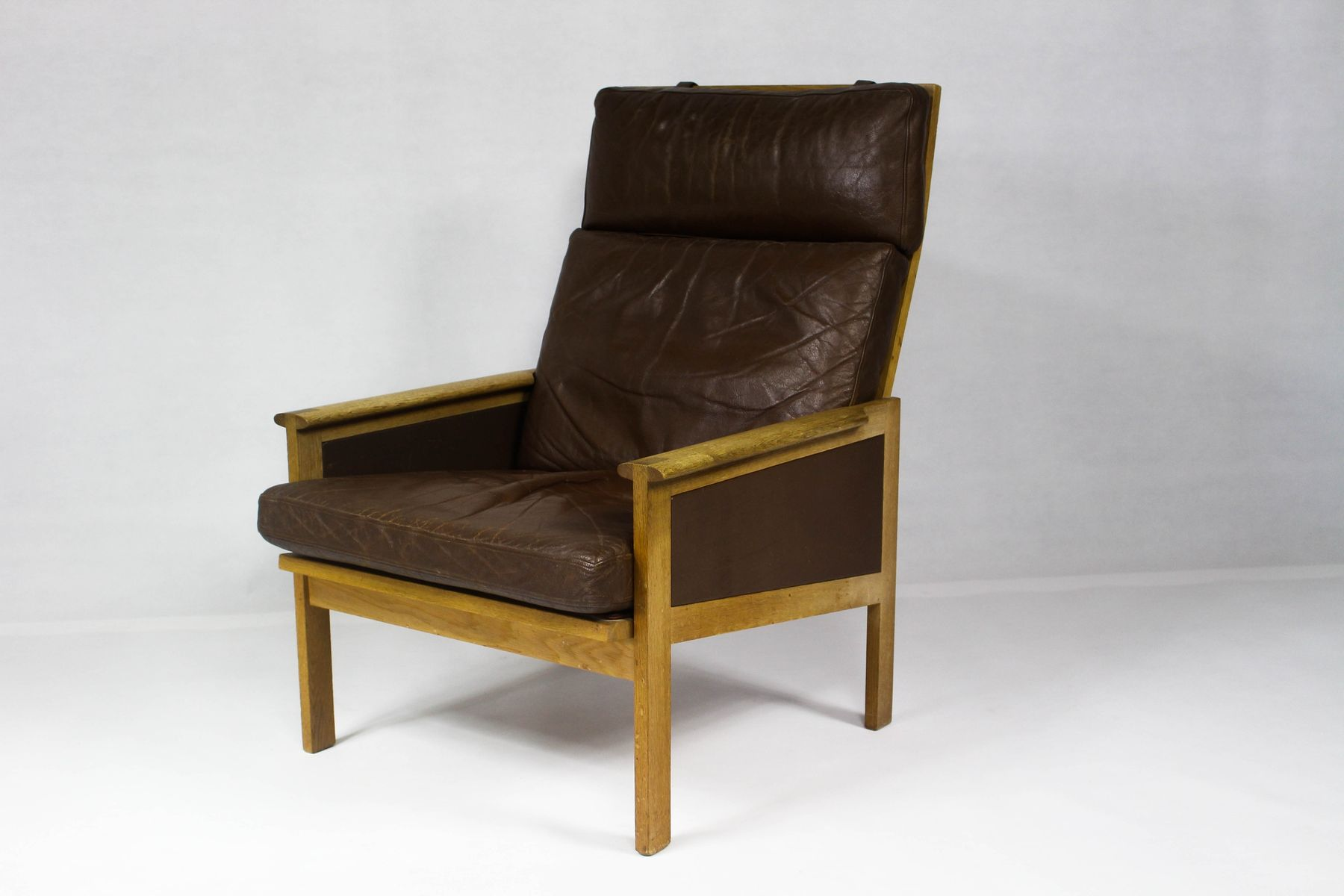 High back lounge chairs - Vintage Danish Capella High Back Lounge Chair By Illum Wikkels For Eilersen