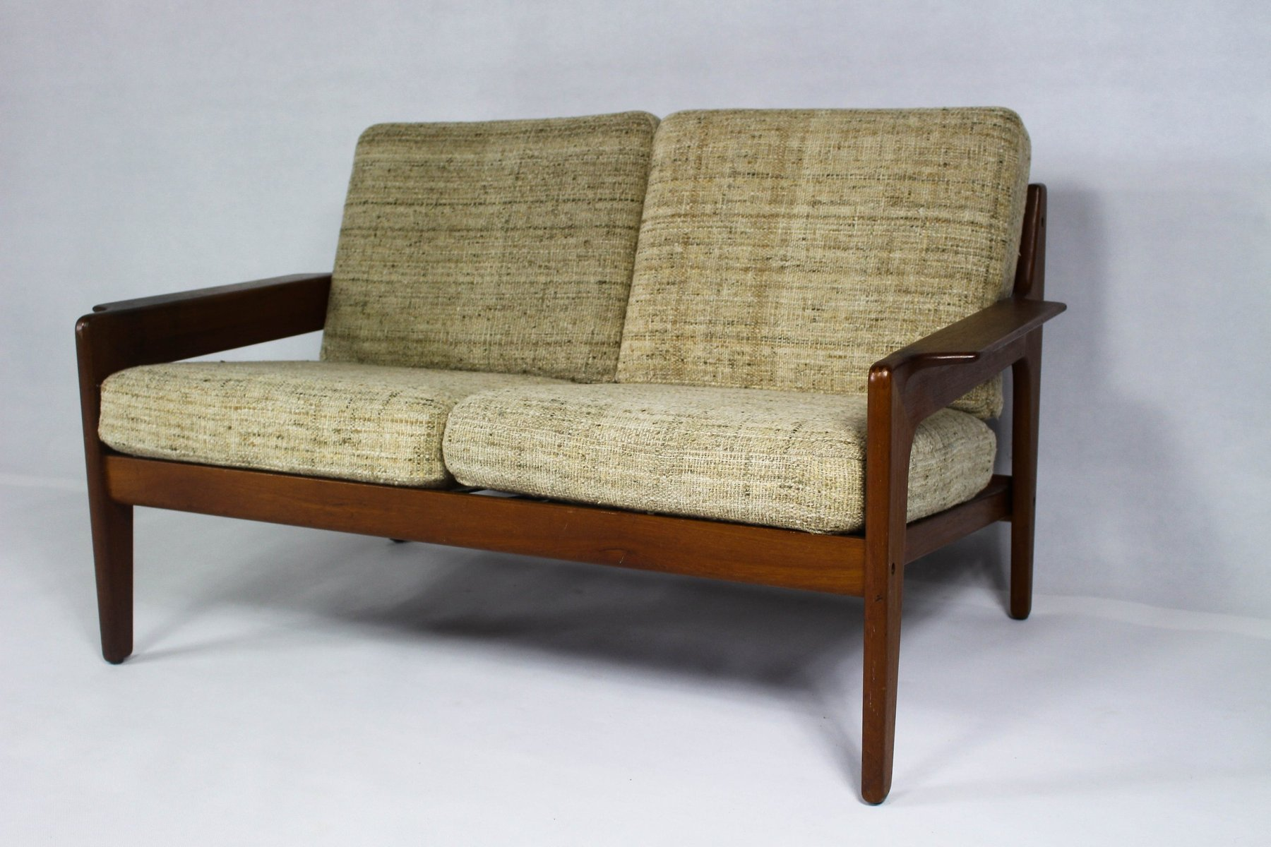 Vintage Danish Beige Teak Sofa by Arne Wahl Iversen for Komfort
