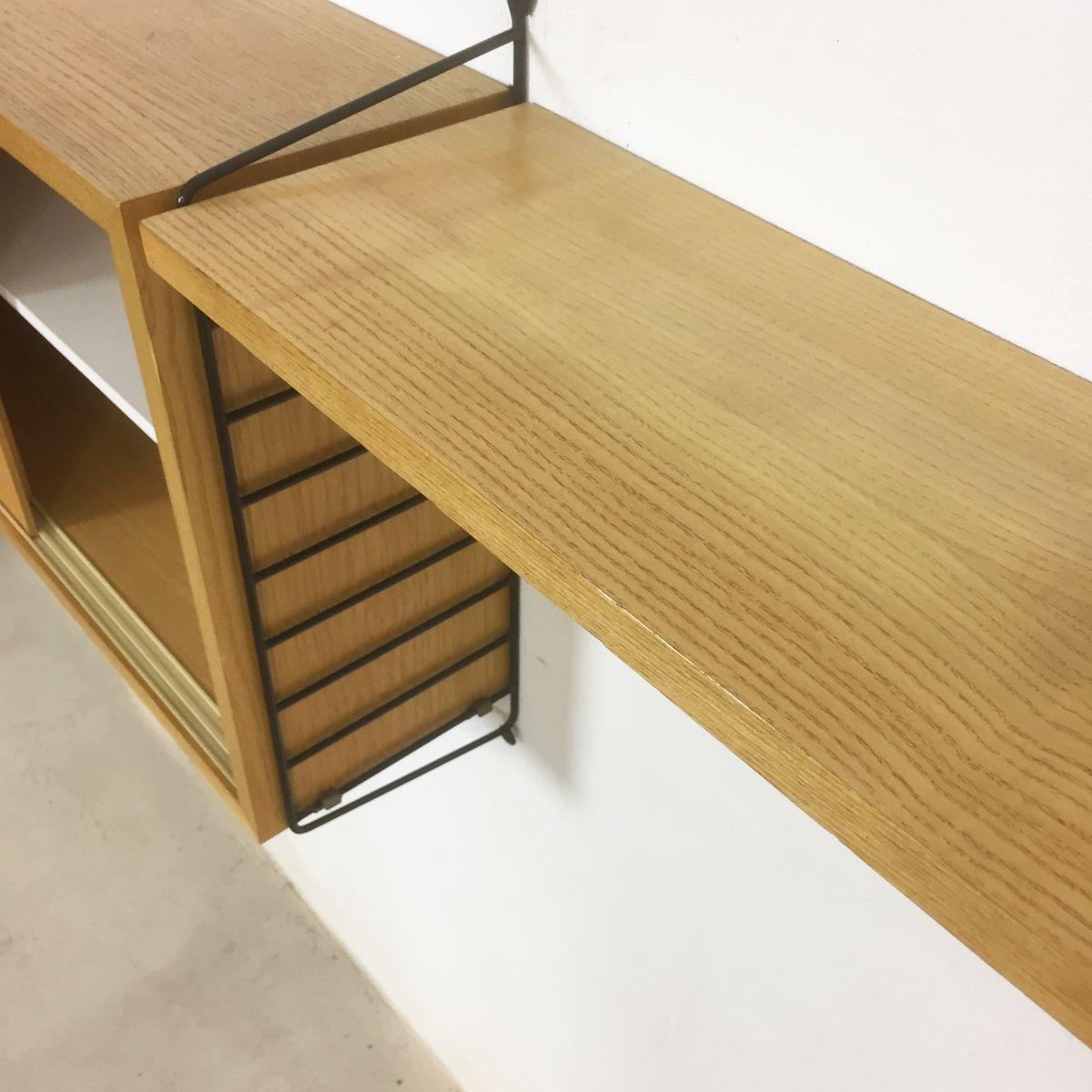 schwedisches eschenholz regal von nisse strinning f r string 1960er bei pamono kaufen. Black Bedroom Furniture Sets. Home Design Ideas