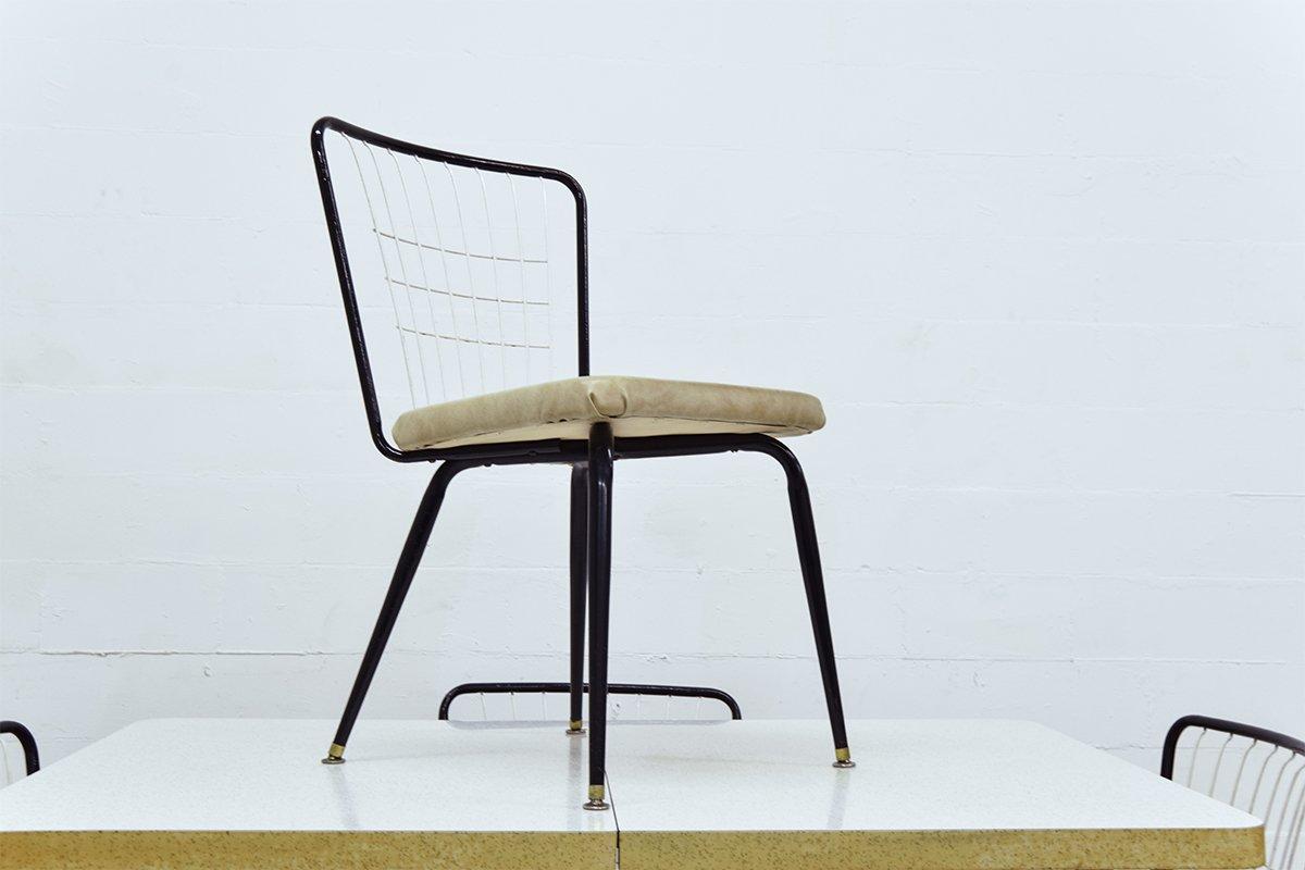 vintage esstisch mit vier st hlen bei pamono kaufen. Black Bedroom Furniture Sets. Home Design Ideas