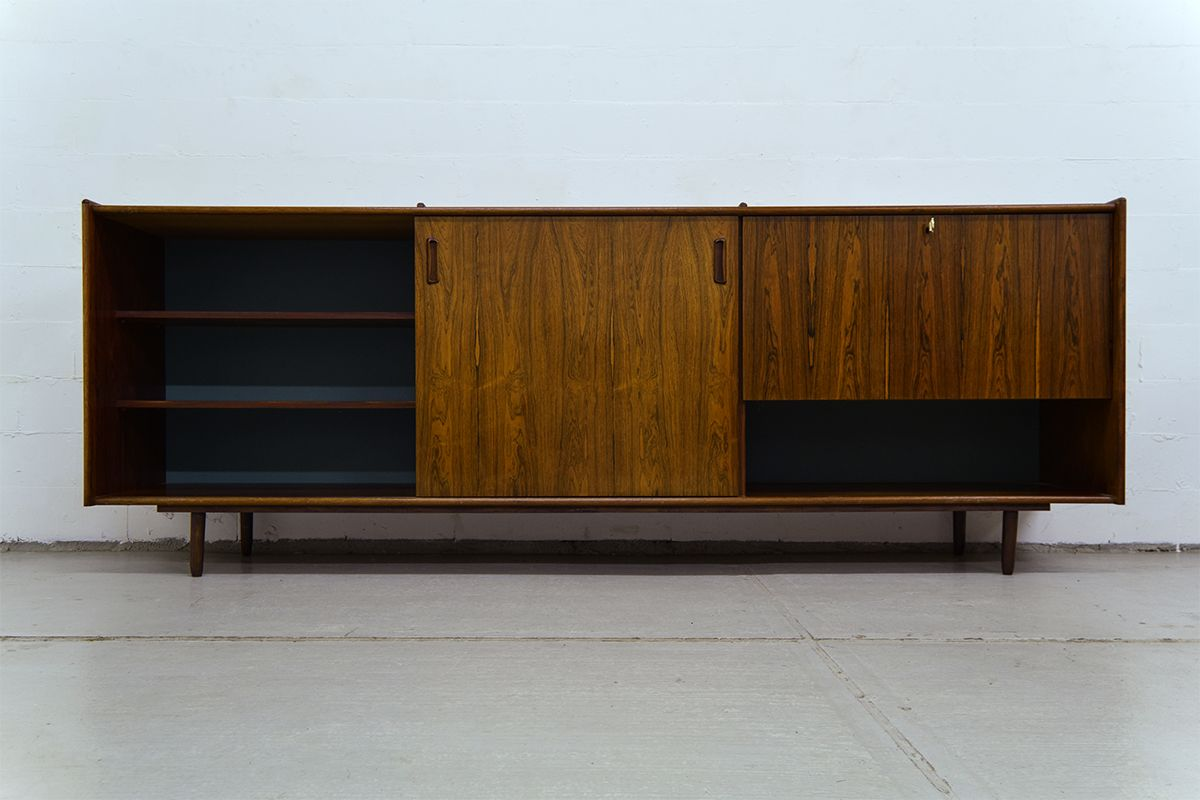 vintage palisander sideboard mit bar bei pamono kaufen. Black Bedroom Furniture Sets. Home Design Ideas