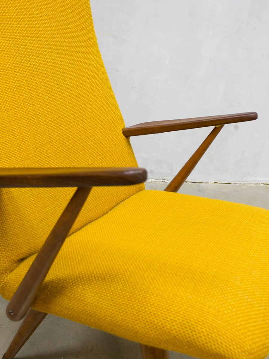 Vintage Yellow Lounge Chair from Akerblom for sale at Pamono