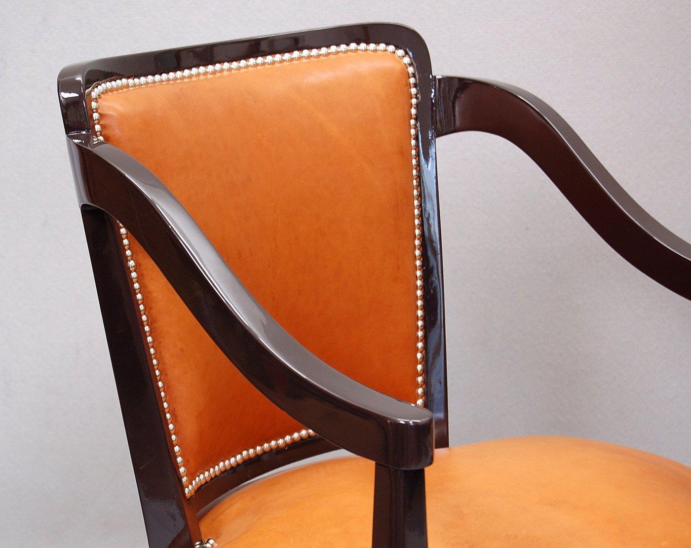 leder armlehnst hle von ren prou 1924 2er set bei. Black Bedroom Furniture Sets. Home Design Ideas
