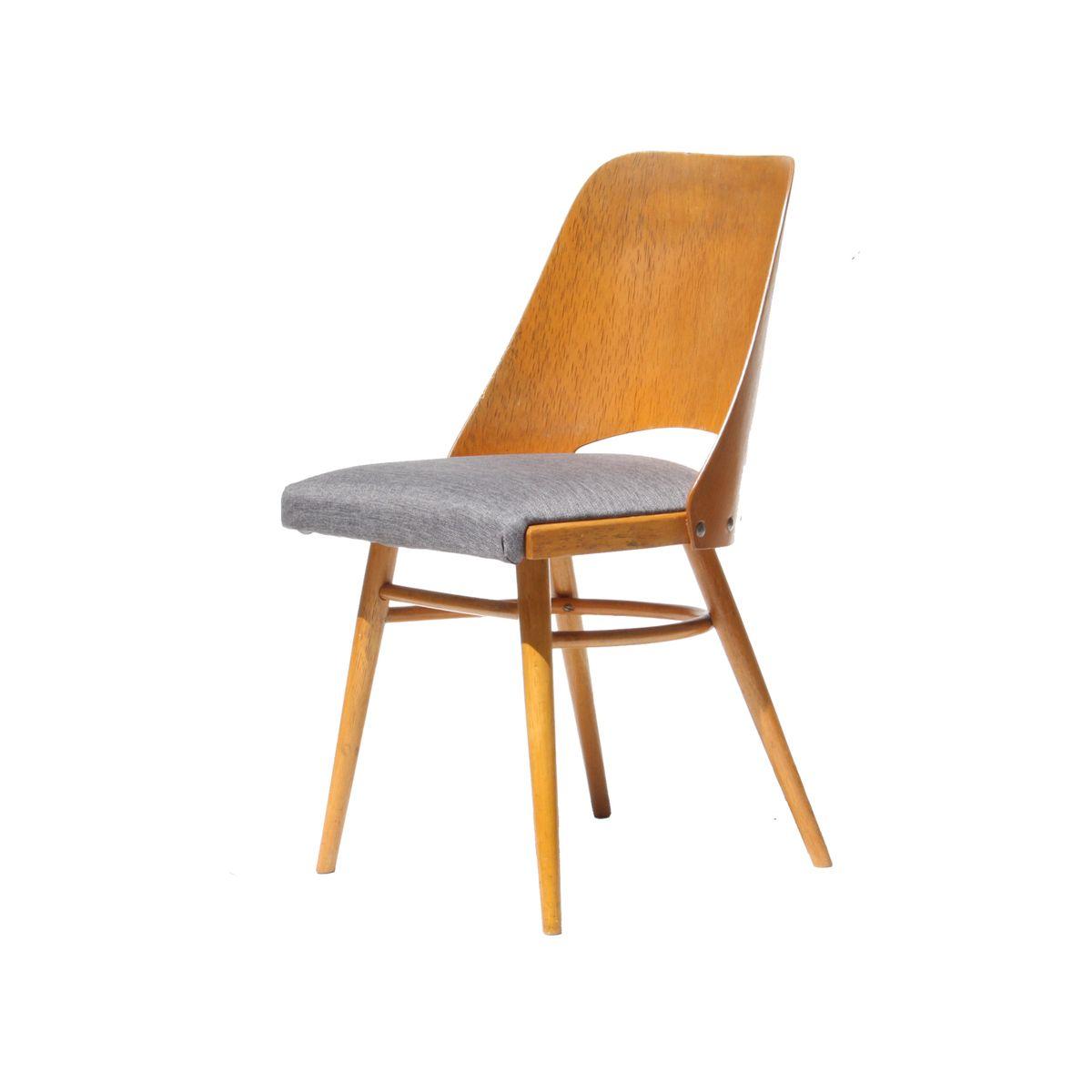 tschechische graue mid century esszimmerst hle 1960er. Black Bedroom Furniture Sets. Home Design Ideas