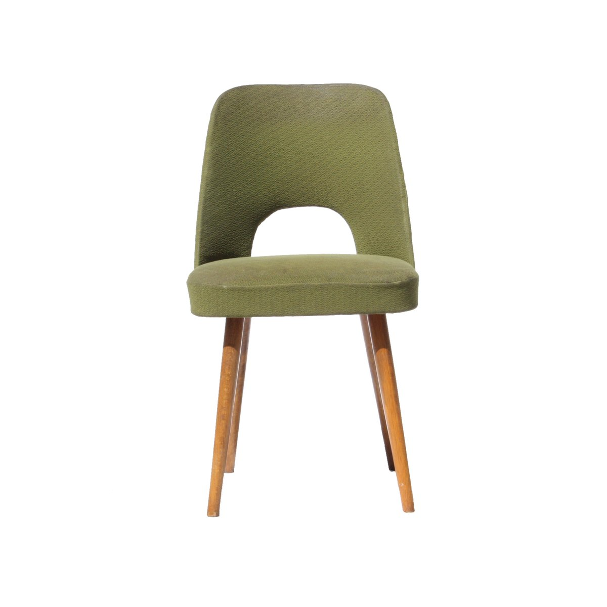 midcentury czech green dining chairs s set of  for sale at  - price per set