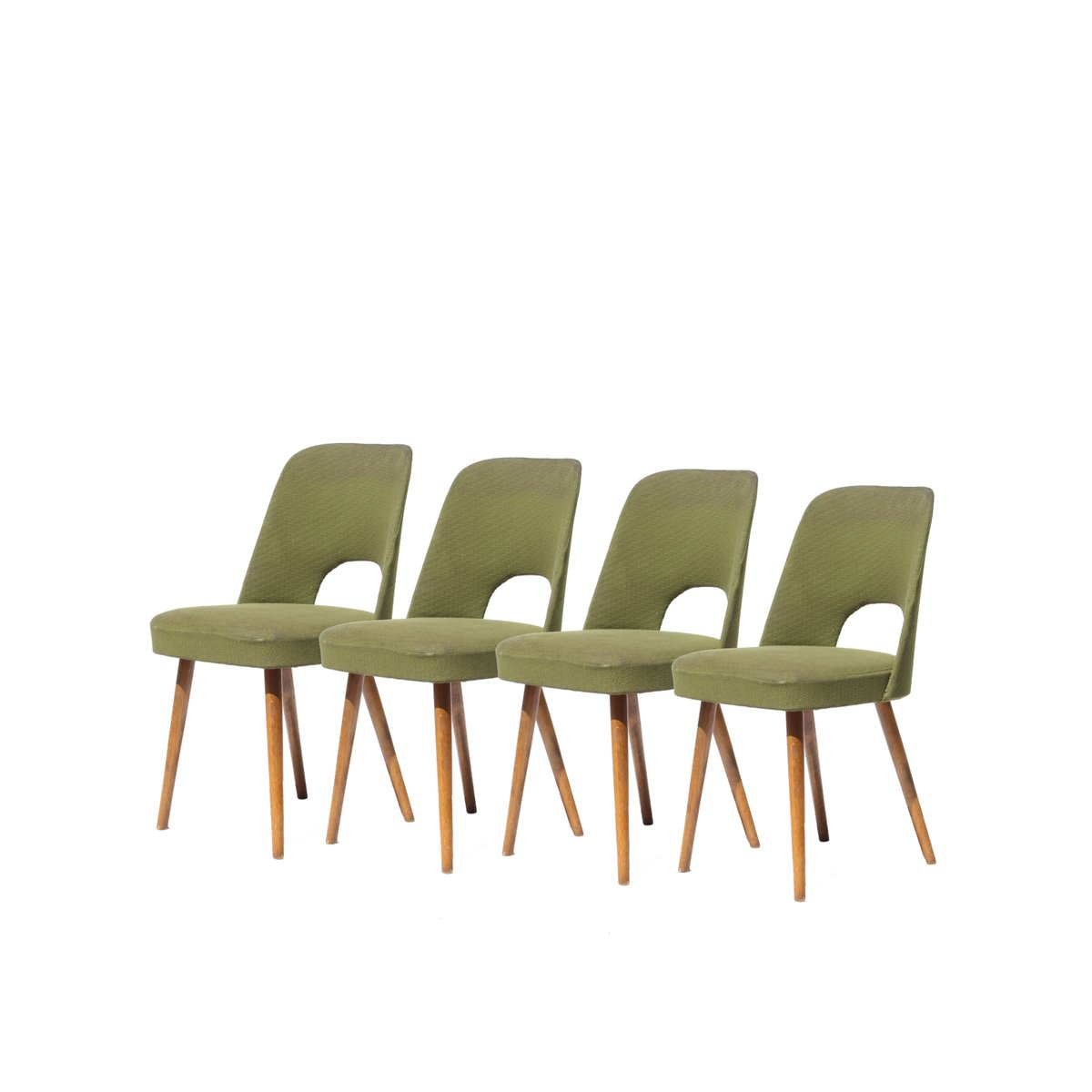 midcentury czech green dining chairs s set of  for sale at  - midcentury czech green dining chairs s set of