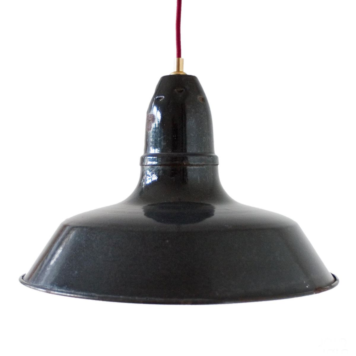 Lampe suspension industrielle vintage noire emaill e france en vente sur pamono - Lampe suspension industrielle ...