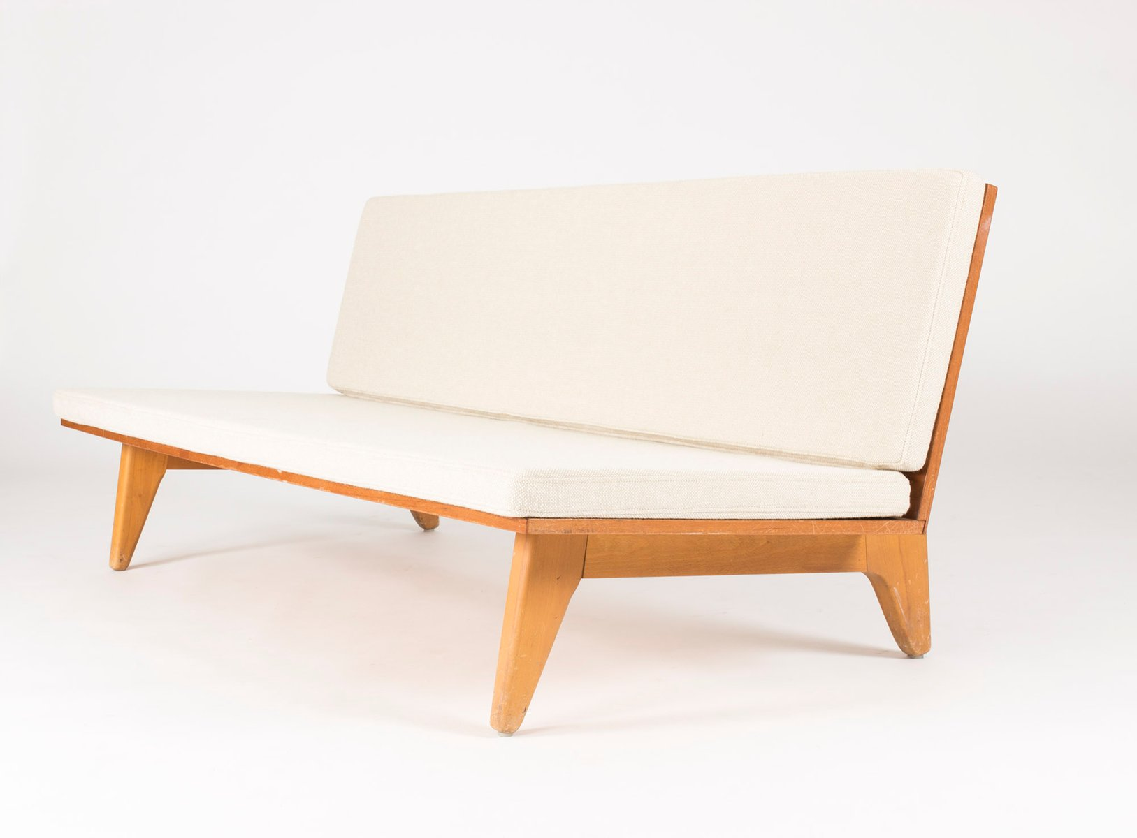 Teak Sofa by Gustaf Hiort af Ornäs for Gösta Westerberg, 1950s for sale at Pamono