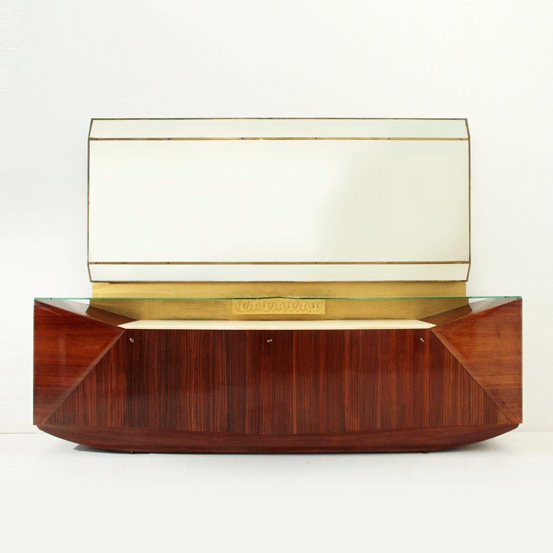 kommode mit spiegel von dassi 1950er bei pamono kaufen. Black Bedroom Furniture Sets. Home Design Ideas
