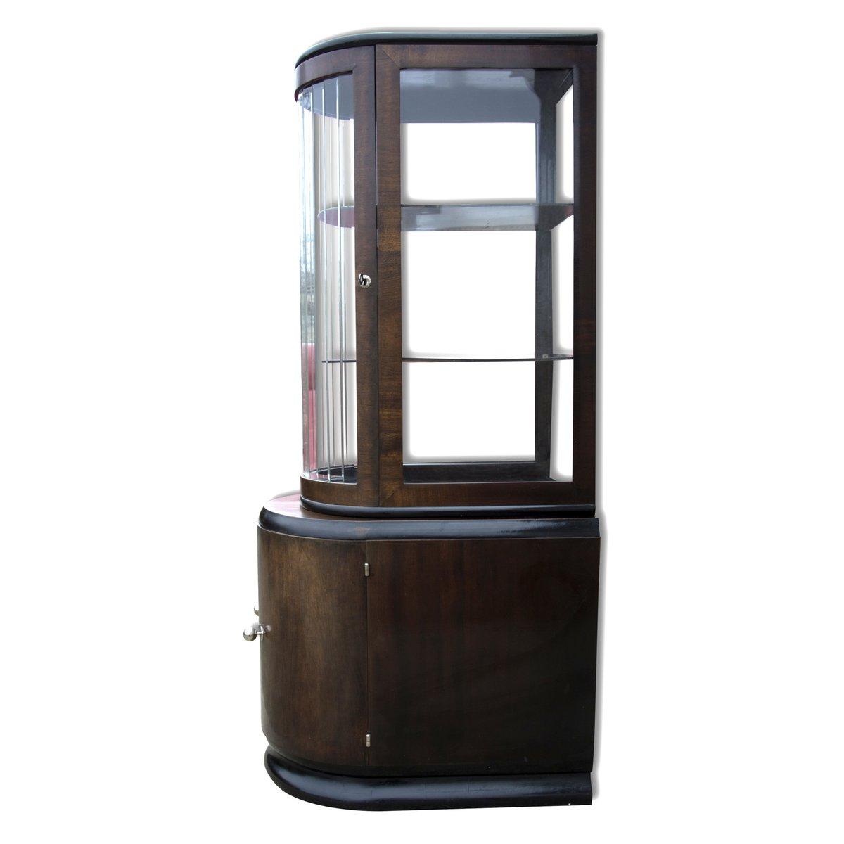 Art deco walnut veneer liquor cabinet 1930s for sale at for Meuble art deco 1930