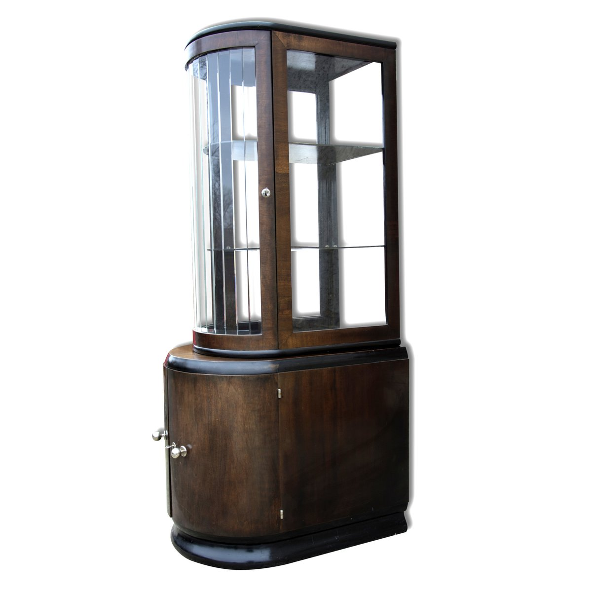 Art deco walnut veneer liquor cabinet 1930s for sale at for Miroir art deco 1930