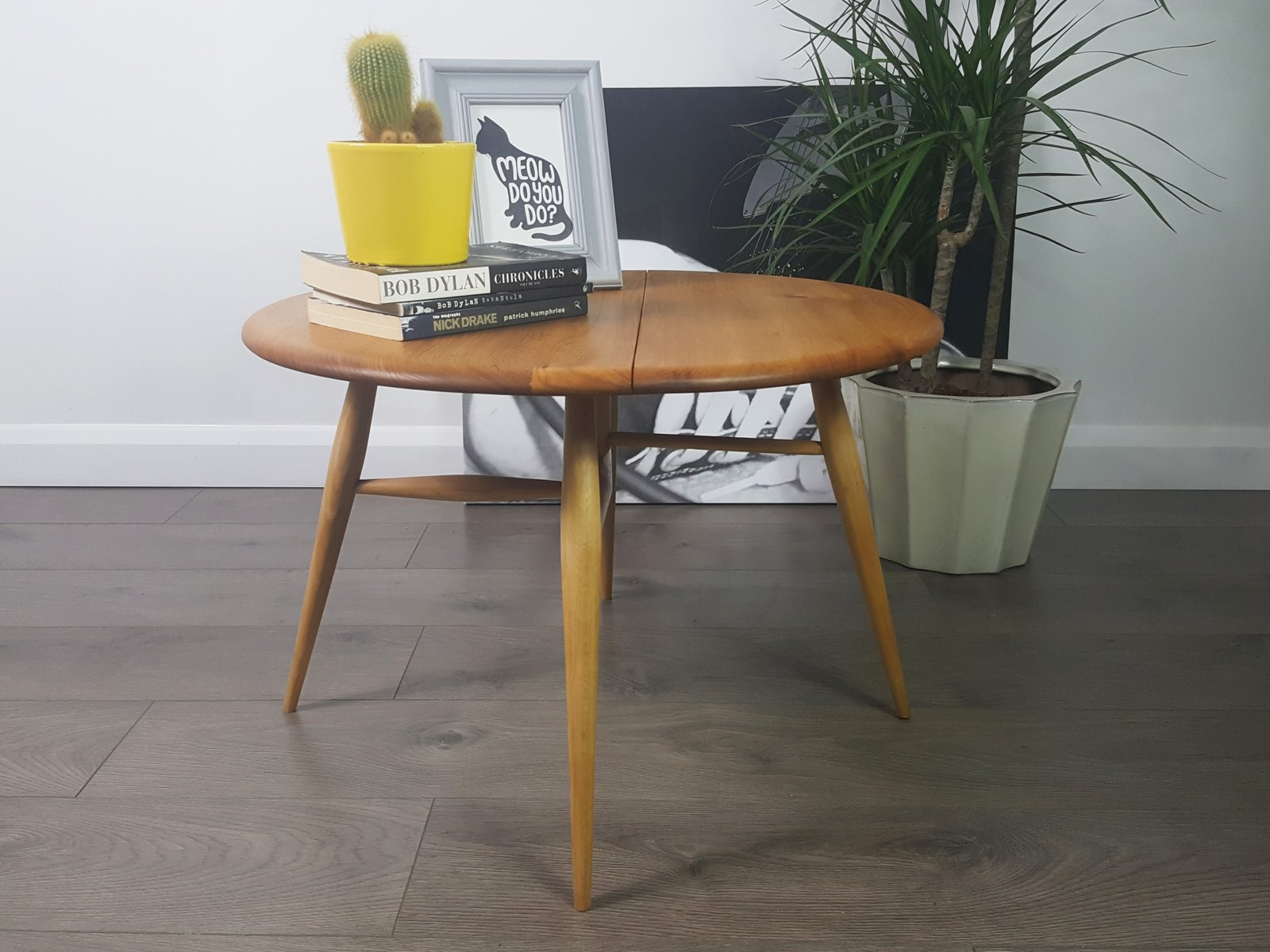 Vintage Folding Coffee Table by Lucian Ercolani for Ercol for sale