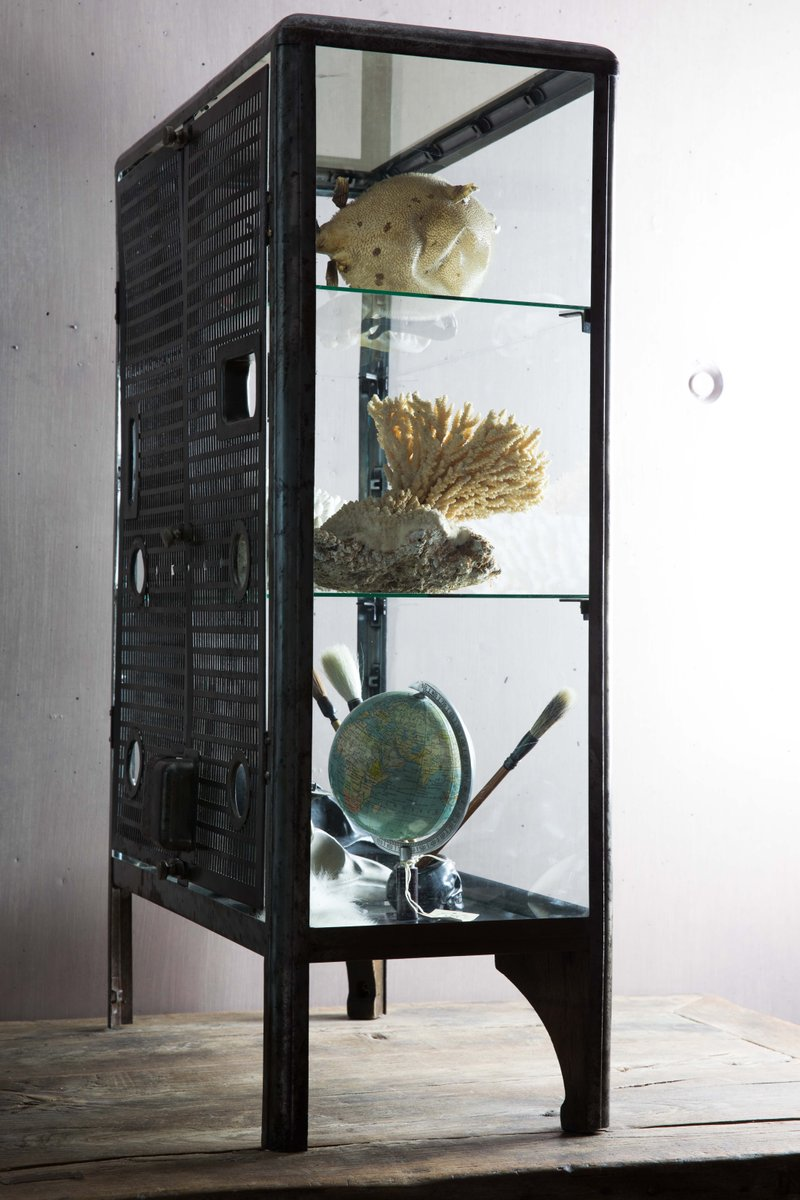Vintage Glass Cabinet for sale at Pamono