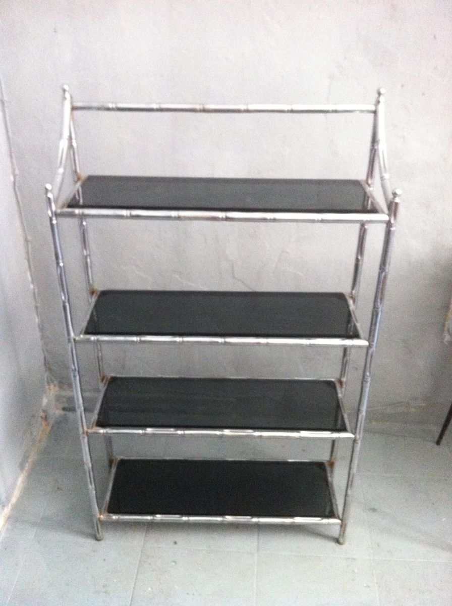 spanish faux bamboo etagere 1960s for sale at pamono. Black Bedroom Furniture Sets. Home Design Ideas