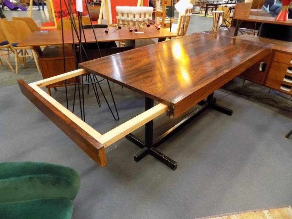 Details about 48 inch round formal duncan phyfe rosewood dining table - Mid Century Italian Extendable Rosewood Dining Table 1960s For