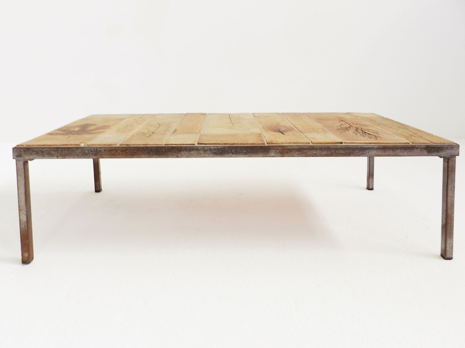 Table basse vintage en c ramique par roger capron en vente - Table ceramique italie ...