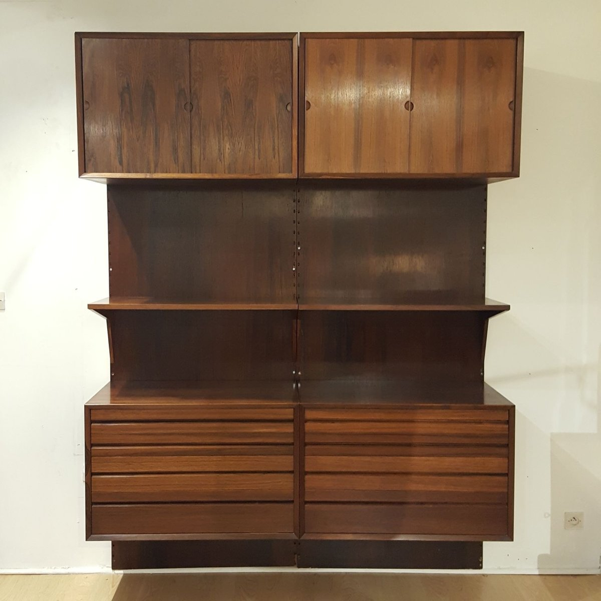Vintage Wall Unit By Poul Cadovius For Royal System For