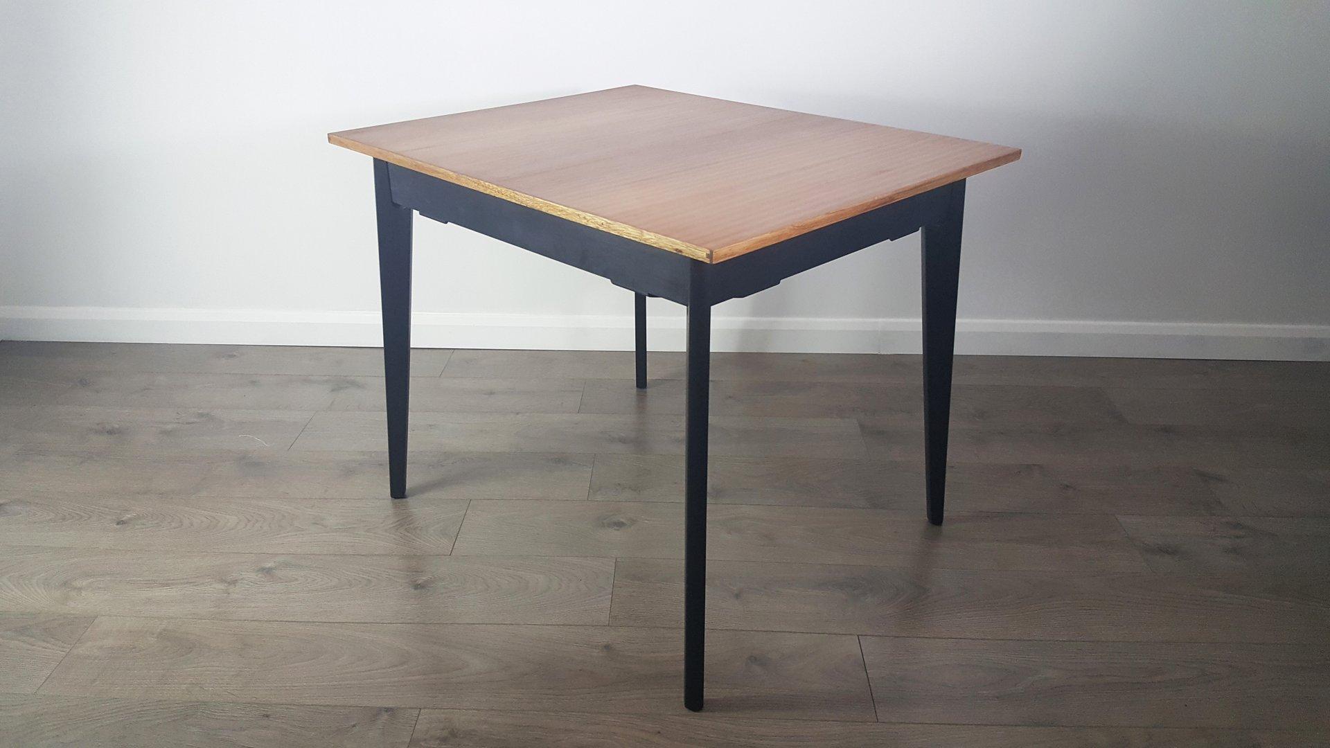 schwarzer tola esstisch von e gomme f r g plan bei pamono kaufen. Black Bedroom Furniture Sets. Home Design Ideas
