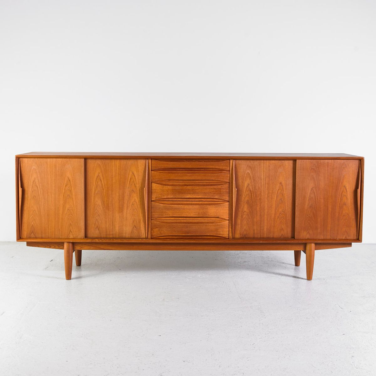 teak sideboard by arne vodder for sibast 1960s for sale at pamono. Black Bedroom Furniture Sets. Home Design Ideas