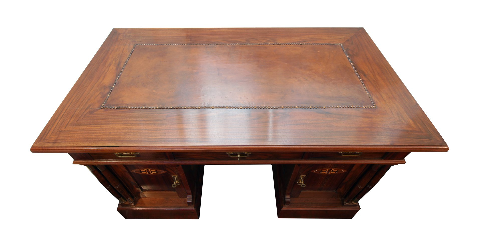 Antiker Jugendstil Schreibtisch Mit Leder Schreibauflage Bei