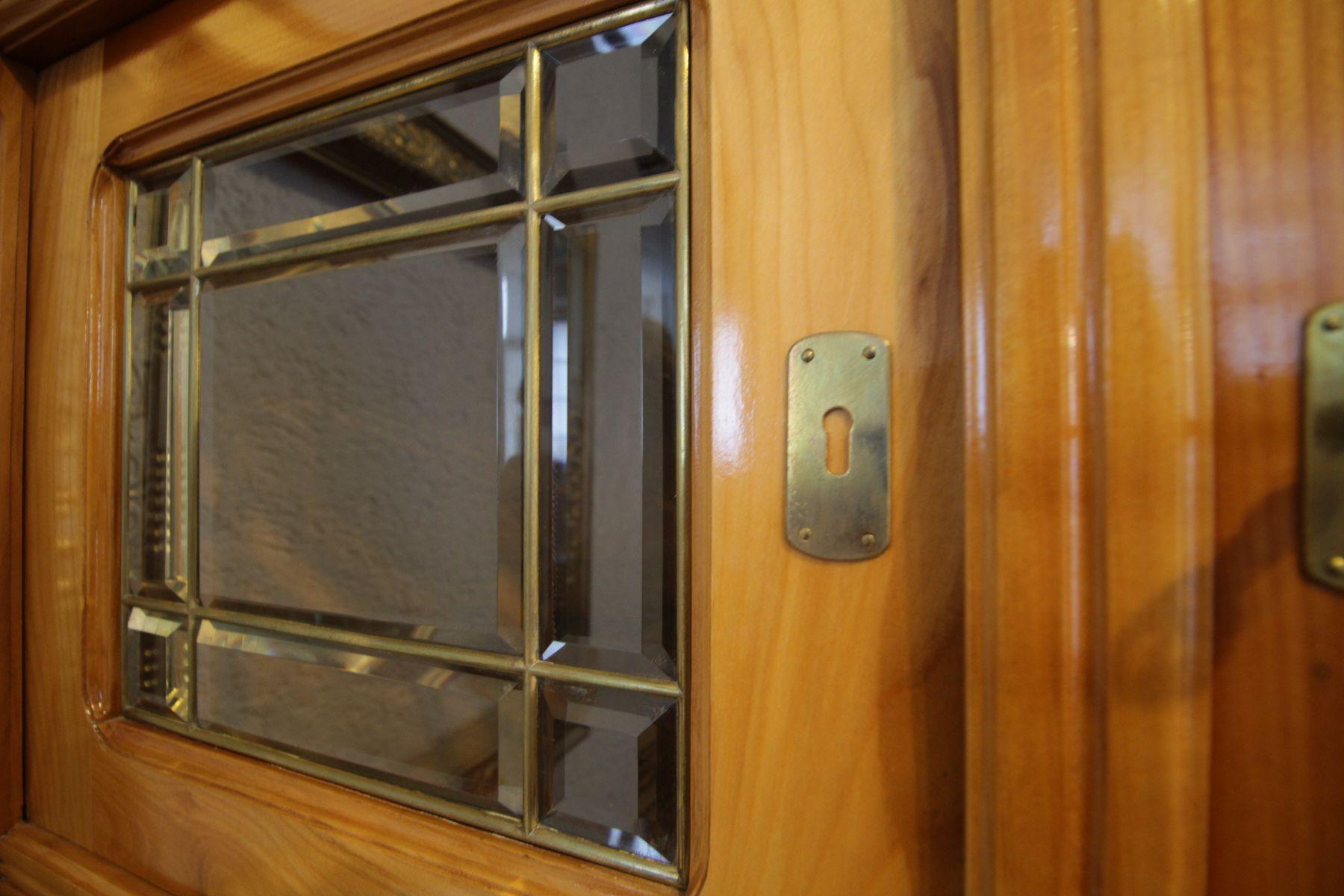 antiker jugendstil kirschholz sekret r bei pamono kaufen. Black Bedroom Furniture Sets. Home Design Ideas