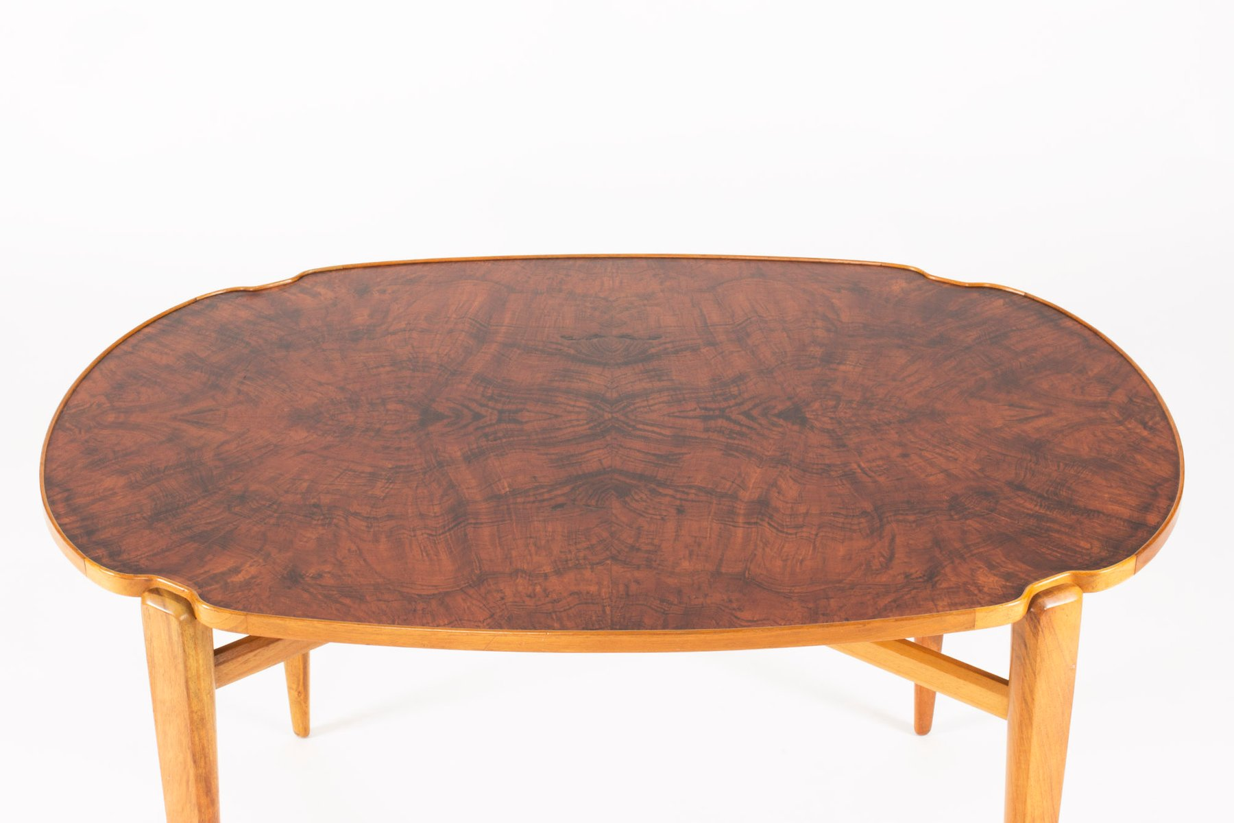 Walnut Root Coffee Table By Axel Larsson For Hjalmar Jackson 1940s For Sale At Pamono