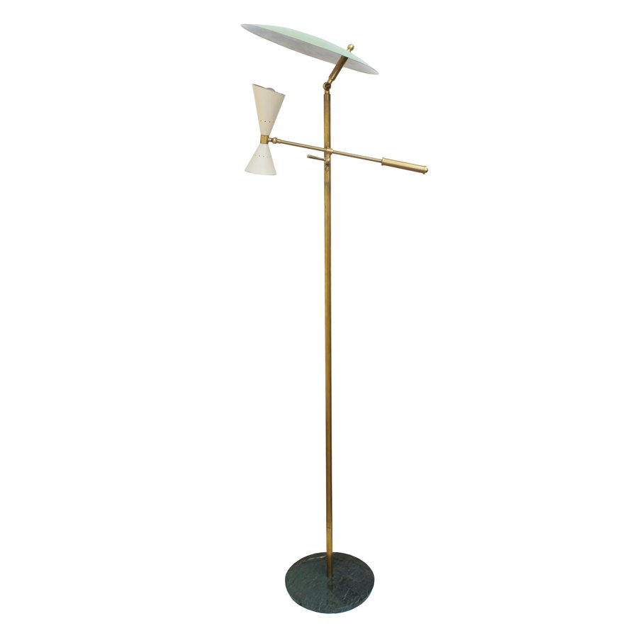 Italian floor lamp from stilnovo 1950s for sale at pamono for 1950 floor lamp
