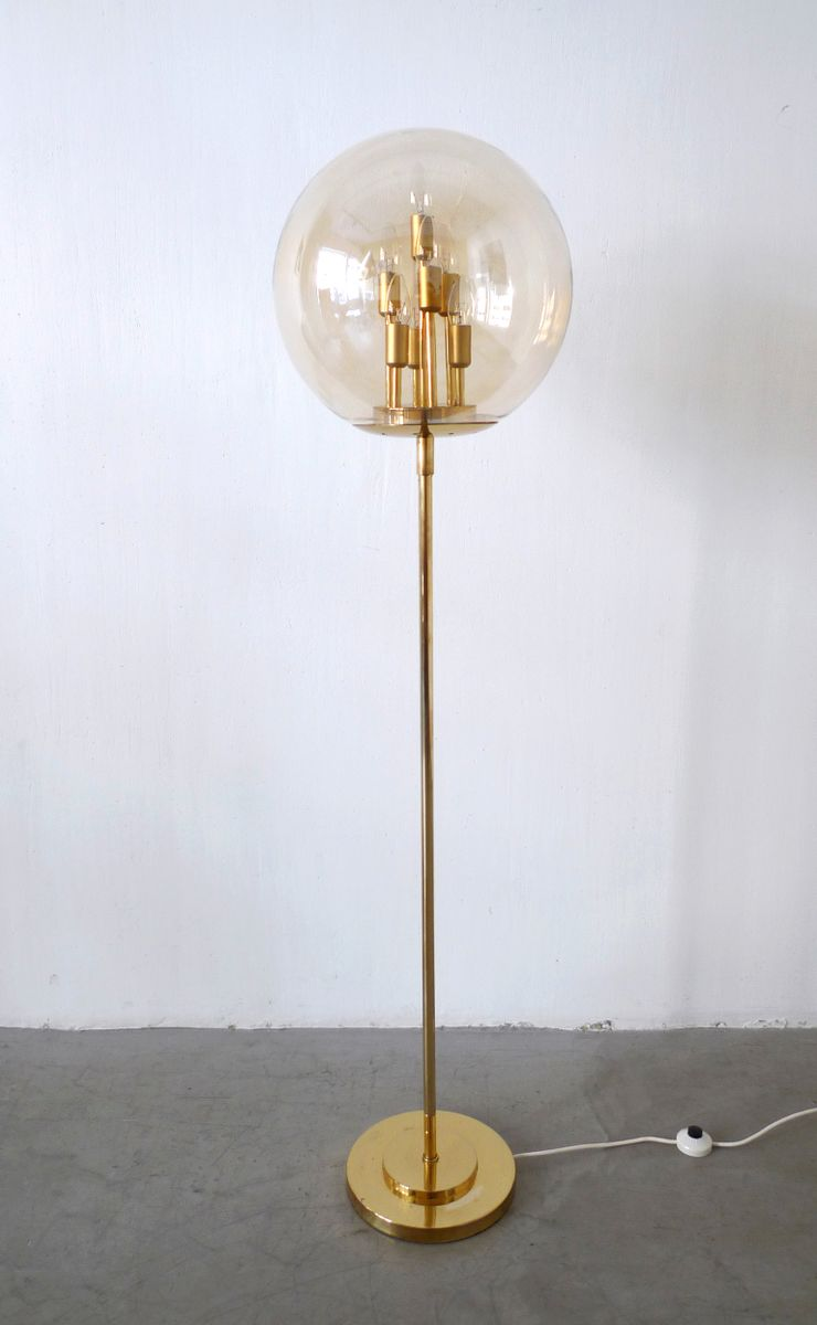 German large brass floor lamp 1970s for sale at pamono for 8 floor lamp