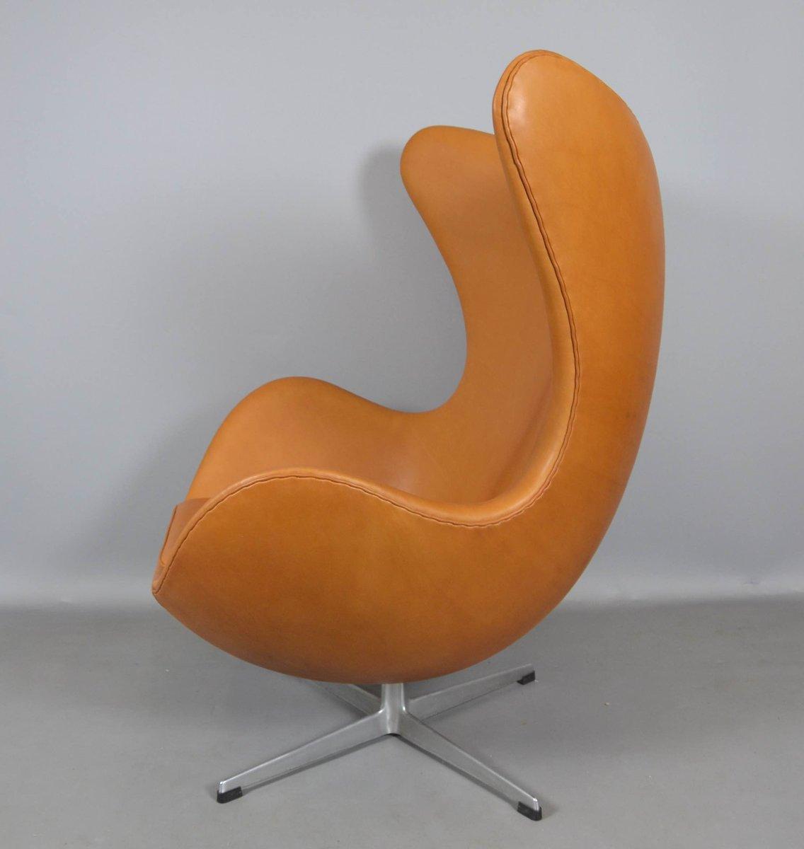 leather egg chair by arne jacobsen for fritz hansen 1970s. Black Bedroom Furniture Sets. Home Design Ideas