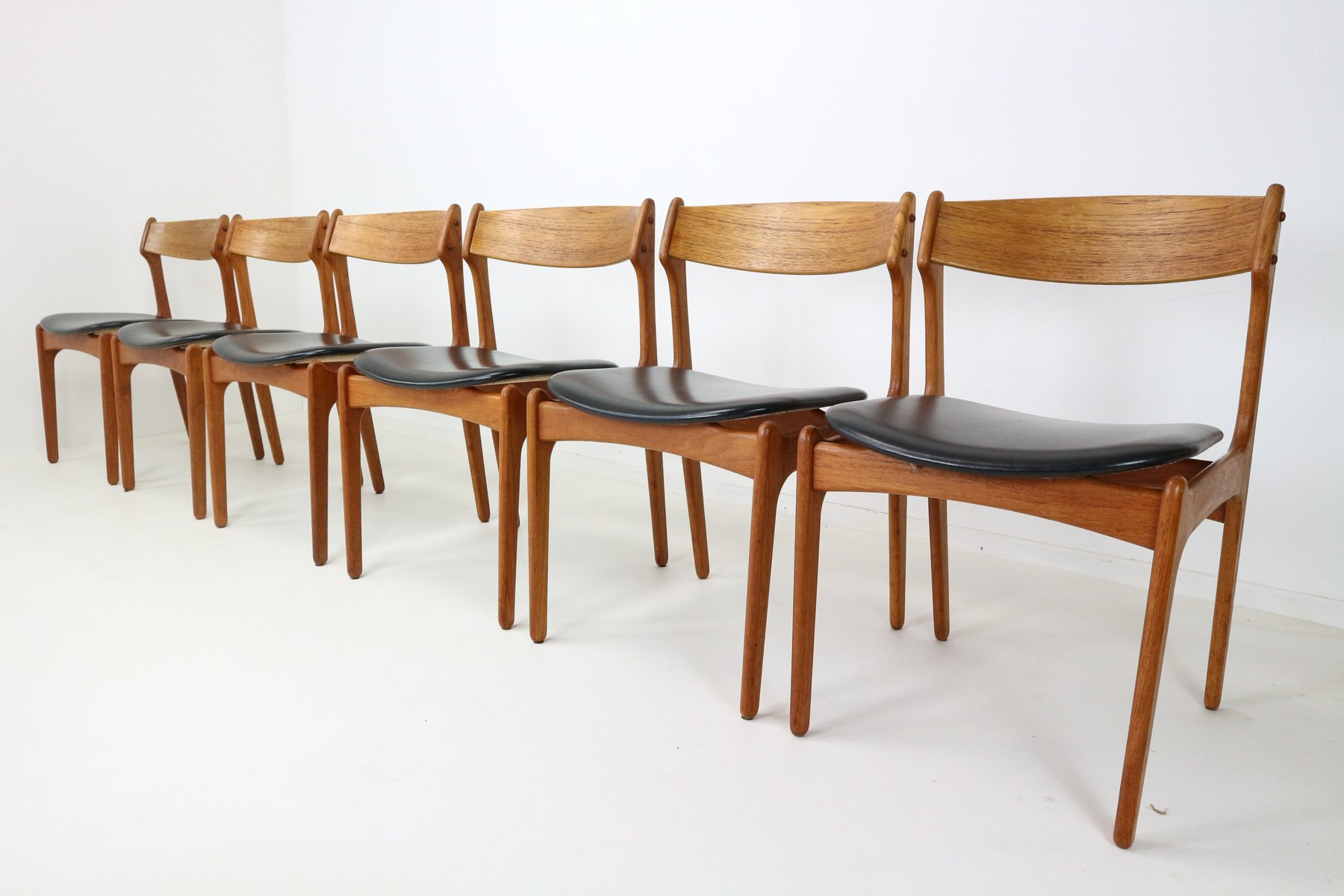 Chaises de Salon Vintage en Teck par Erik Buch pour O D Danemark