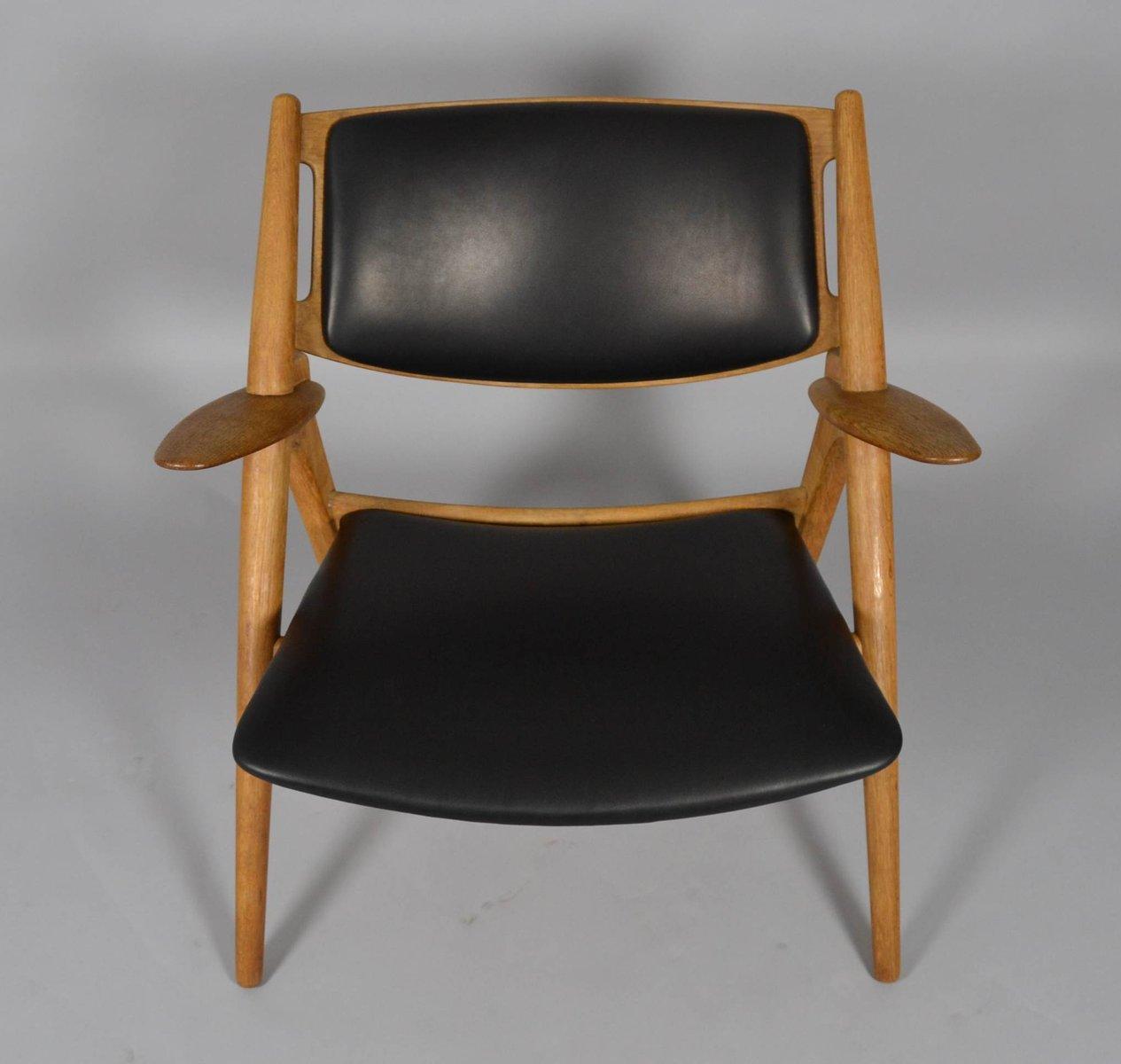 mid century ch28 sawbuck stuhl von hans j wegner f r carl. Black Bedroom Furniture Sets. Home Design Ideas