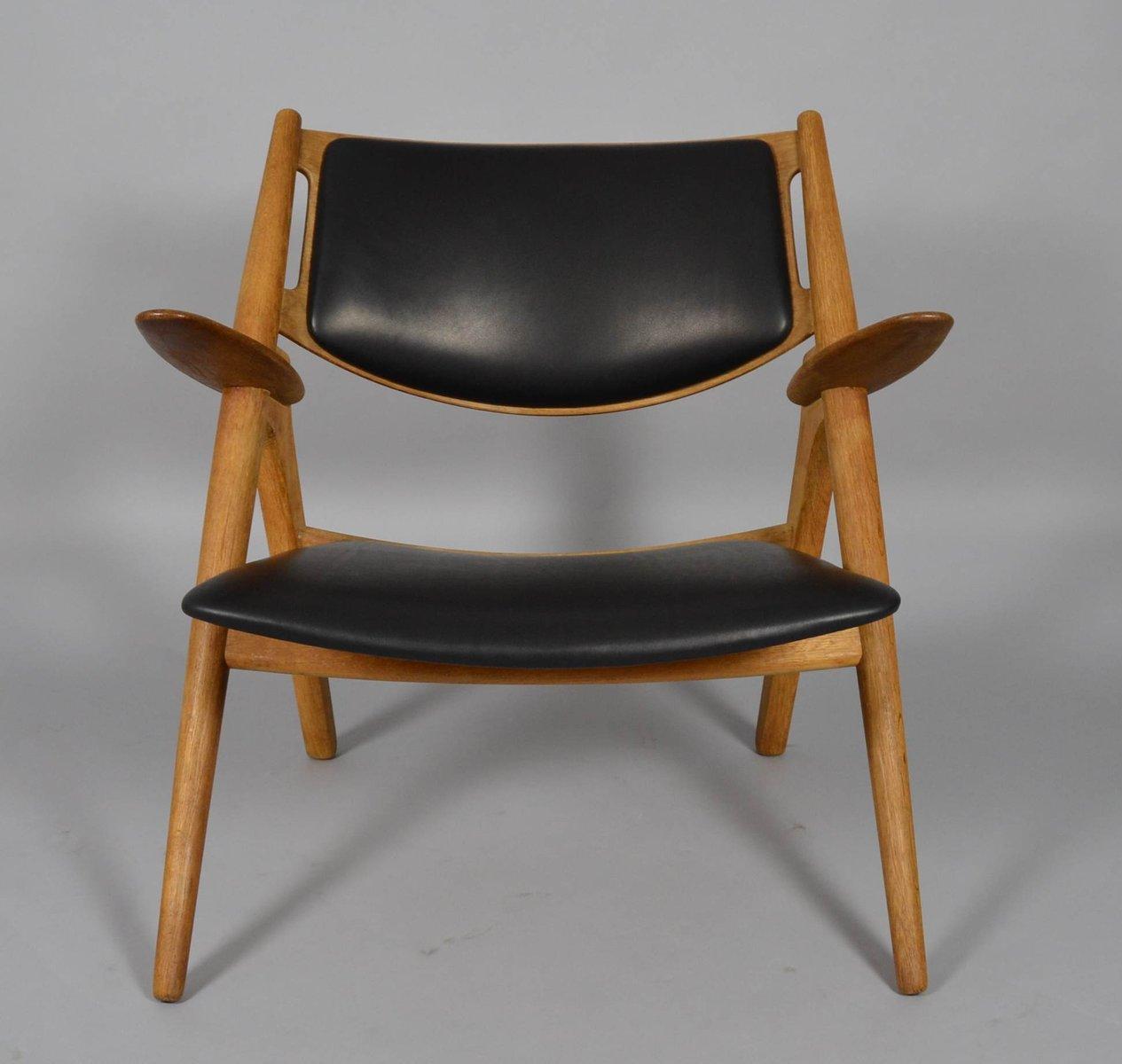 mid century ch28 sawbuck stuhl von hans j wegner f r carl hansen bei pamono kaufen. Black Bedroom Furniture Sets. Home Design Ideas