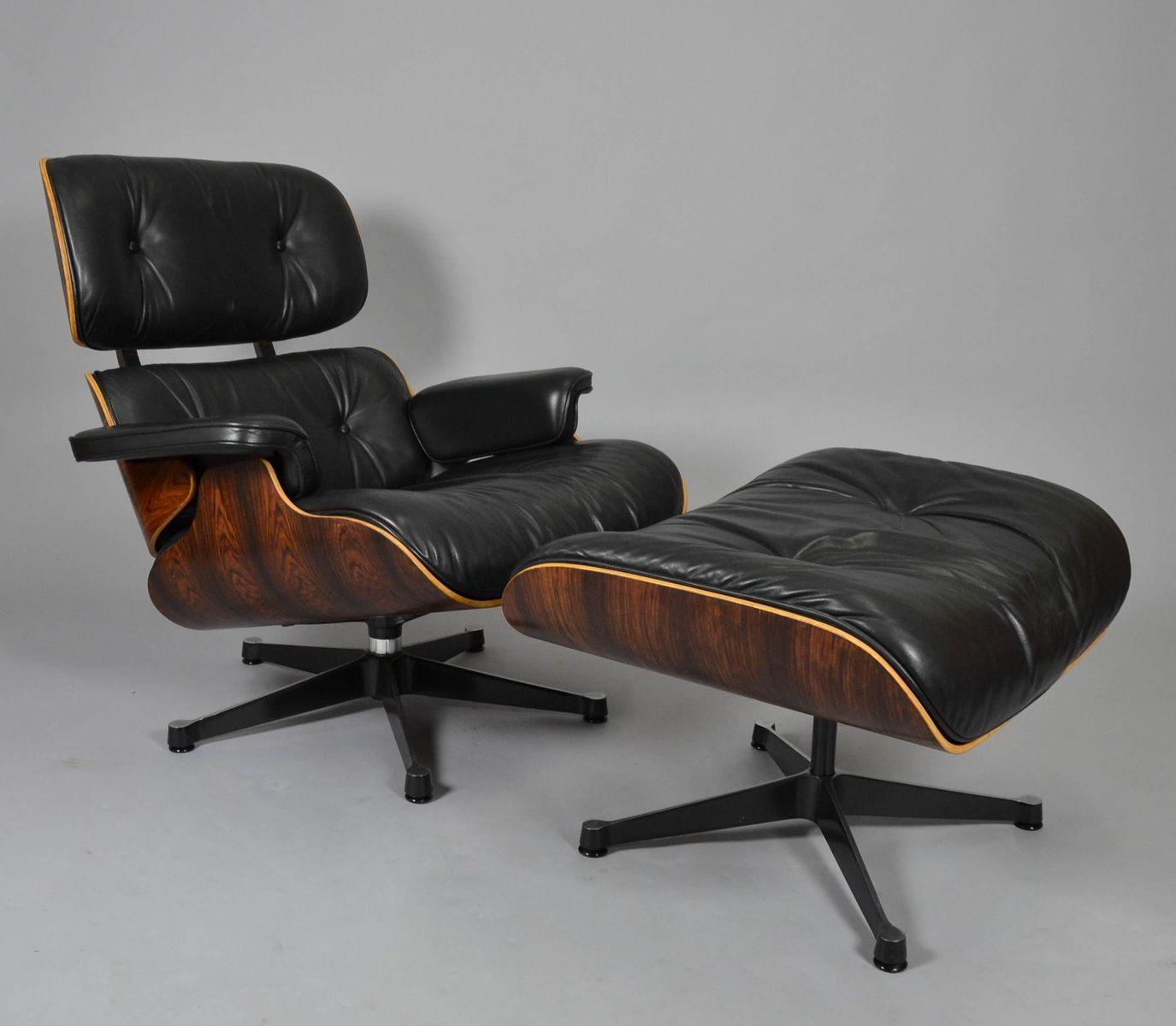 midcentury lounge chair ottoman by charles ray eames for - Mid Century Lounge Chair