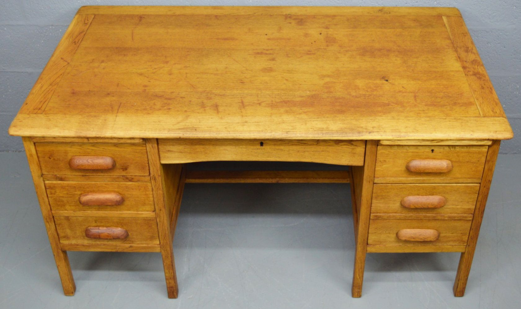 mid century solid oak desk 1960s for sale at pamono