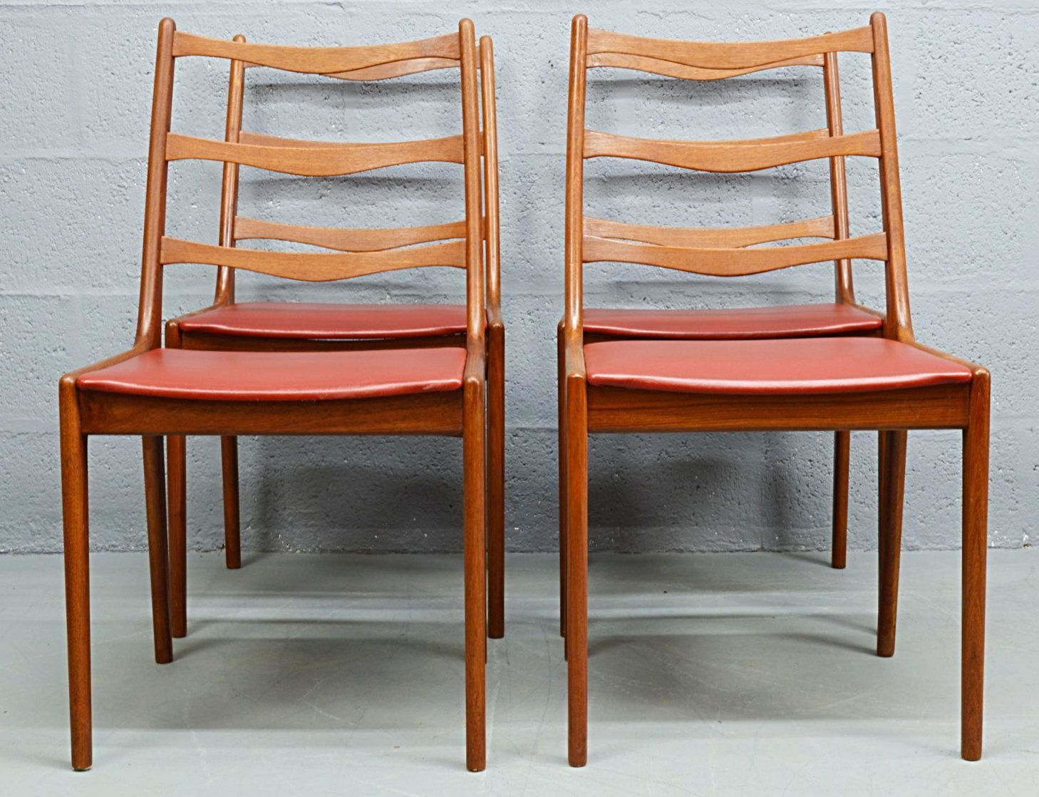 mid century teak danish dining chairs by kai kristiansen for korup set of 4 for sale at pamono. Black Bedroom Furniture Sets. Home Design Ideas