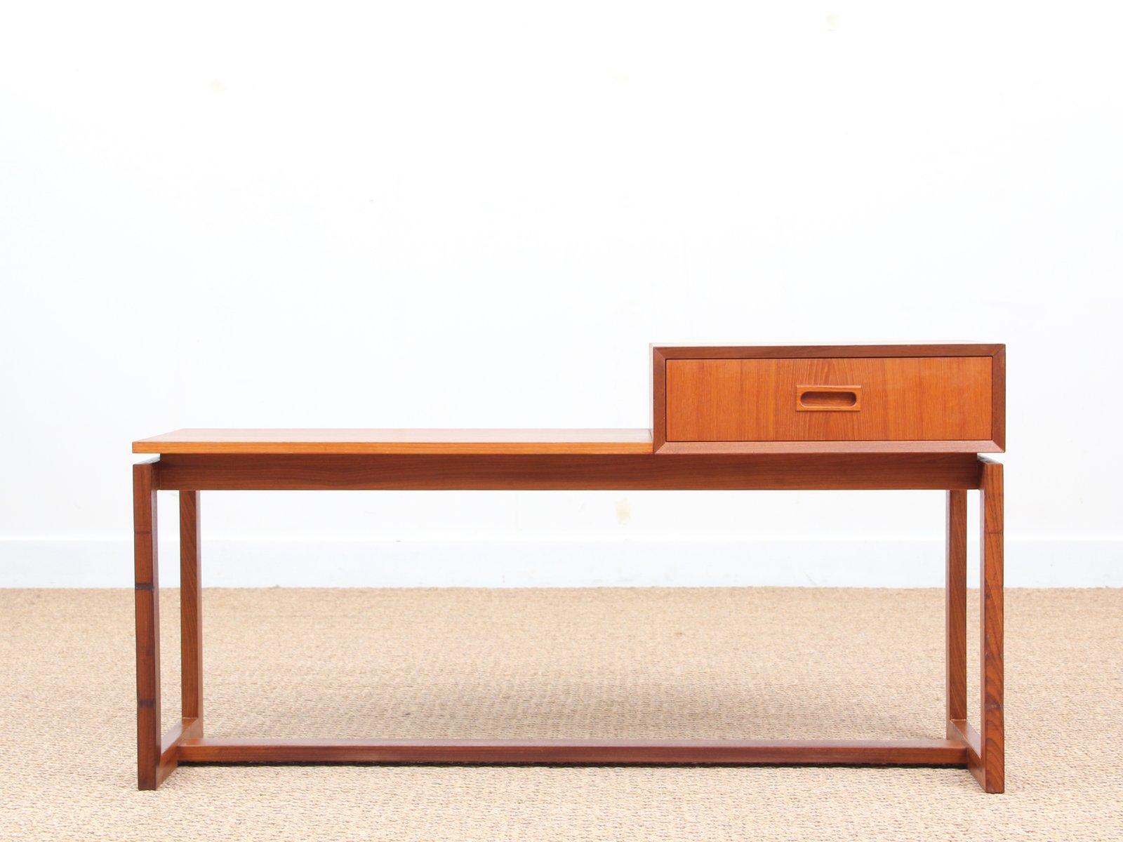 midcentury teak bench u0026 mirror 1960s - Teak Bench