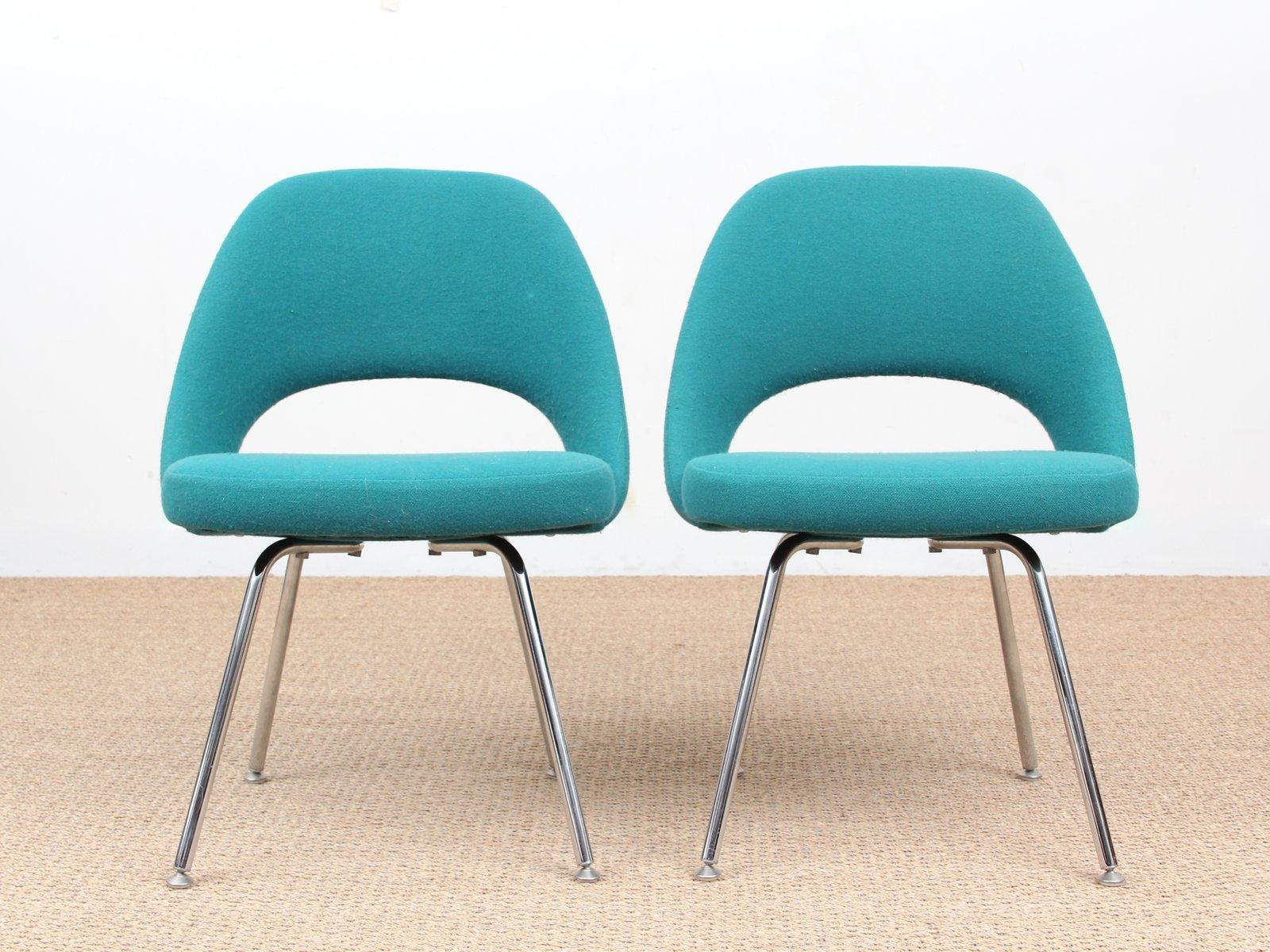Scandinavian Executive Chairs by Eero Saarinen for Knoll 1950s