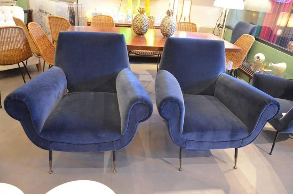 Mid Century Purple Armchairs By Gigi Radice, 1960s, Set Of 2