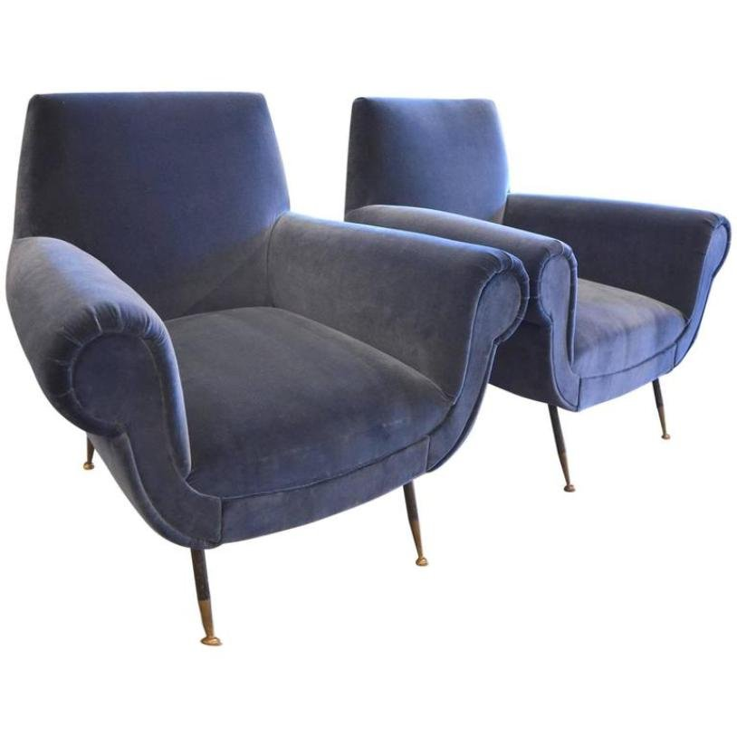 Mid Century Purple Armchairs By Gigi Radice, 1960s, Set Of 2 For Sale At  Pamono