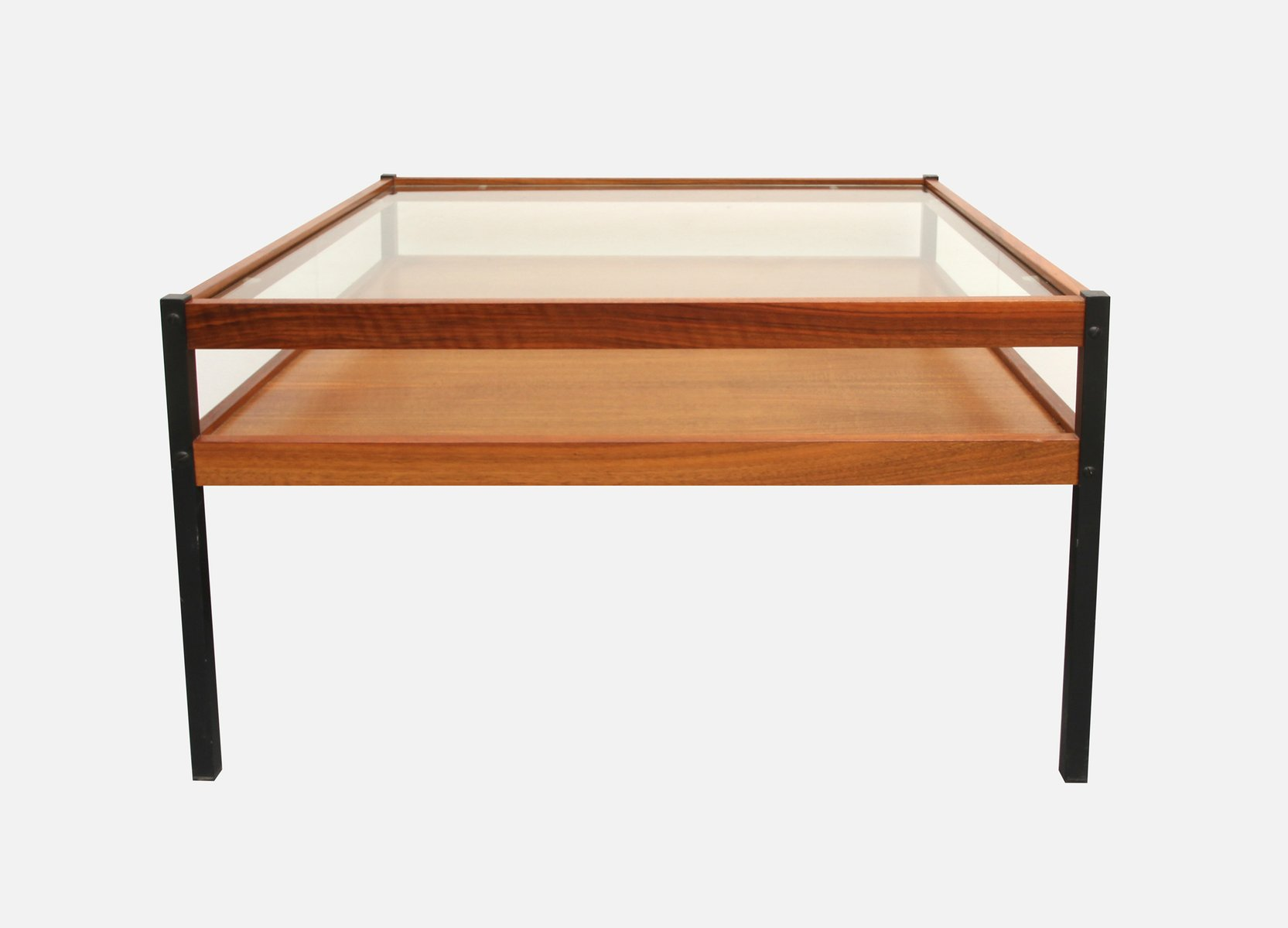 walnut veneer  glass coffee table s for sale at pamono - walnut veneer  glass coffee table s
