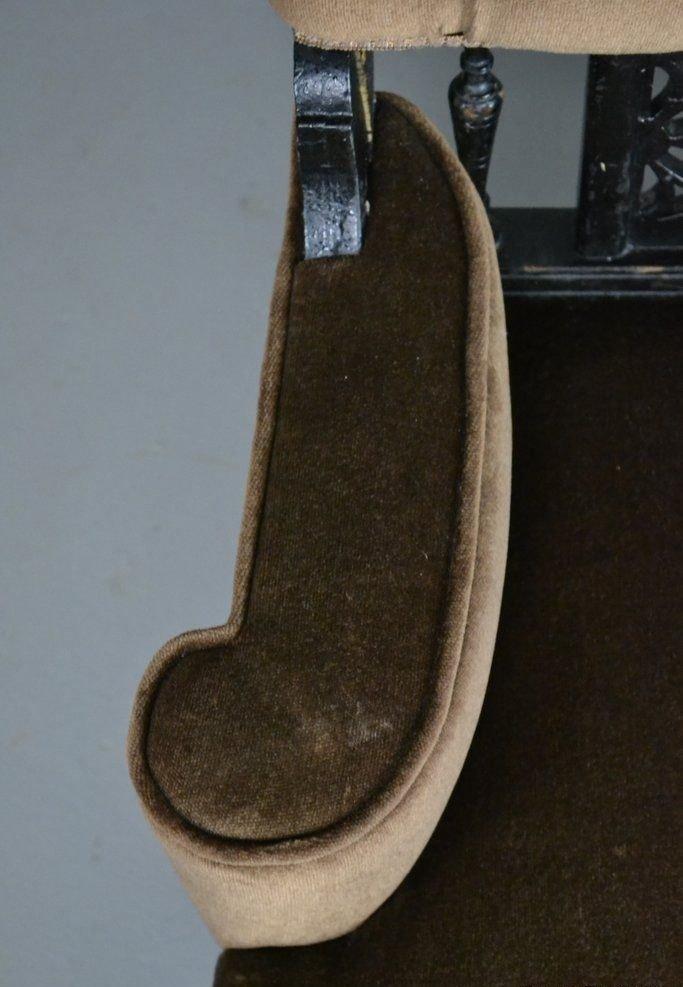 antiker ebonisierter edwardianischer sessel bei pamono kaufen. Black Bedroom Furniture Sets. Home Design Ideas