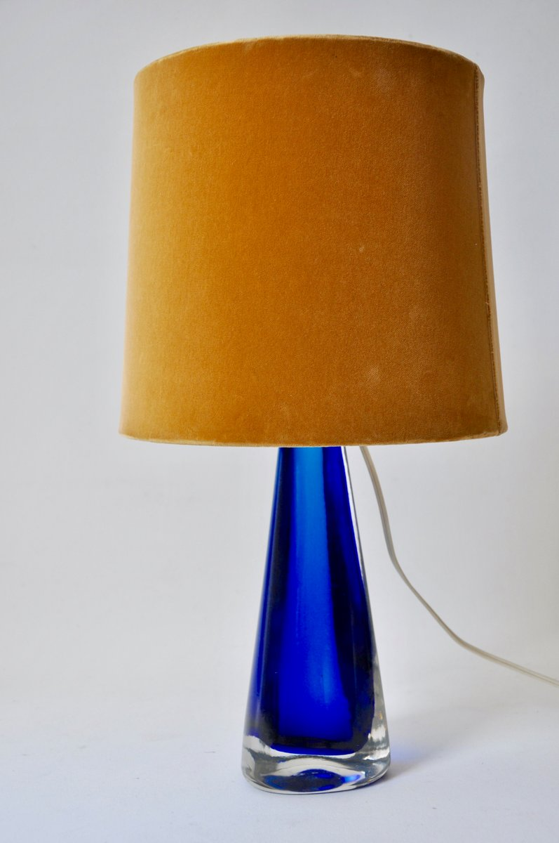 Lovely Blue Glass Table Lamp From Venini, 1950s